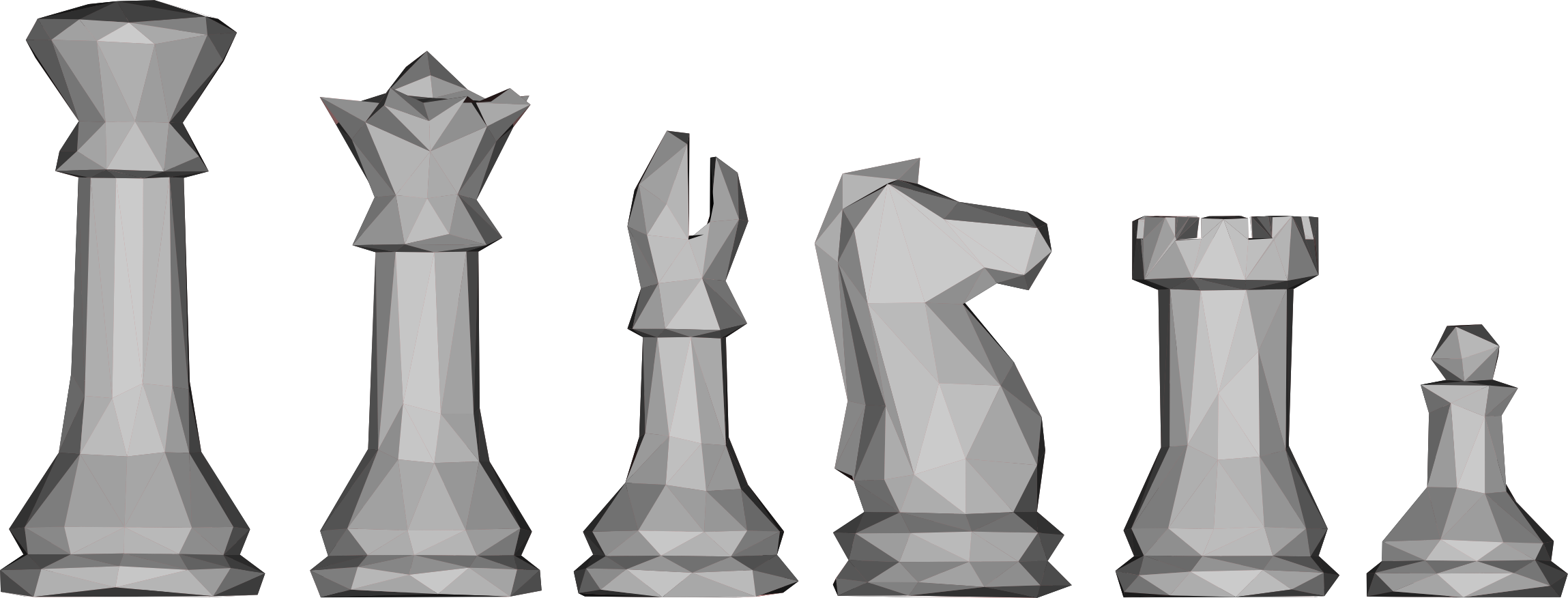 Low Poly Chess Pieces by GDJ