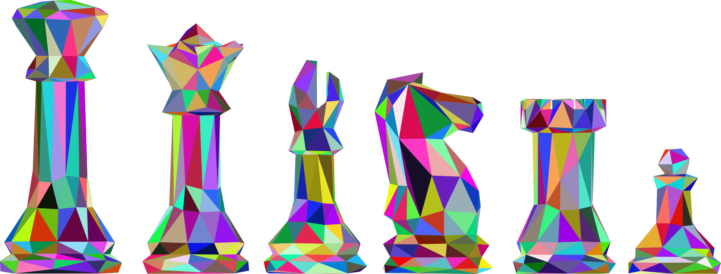 Low Poly Chess Pieces Prismatic by GDJ