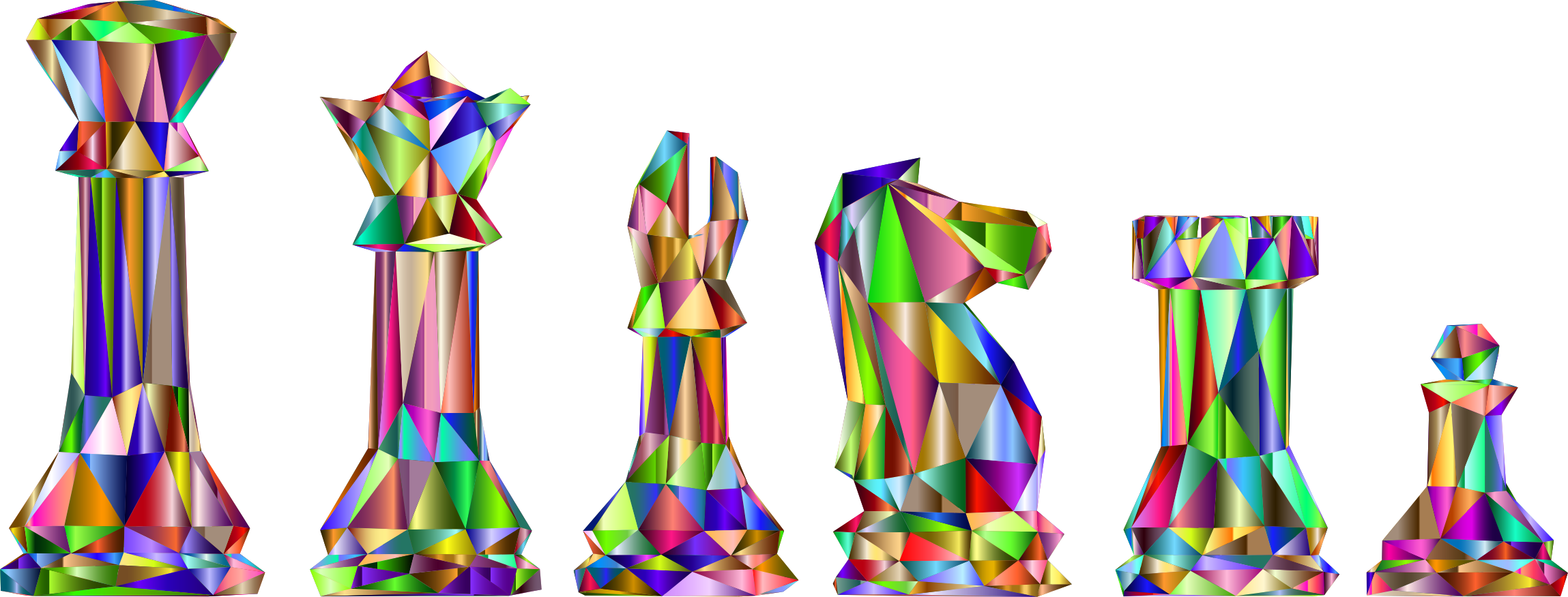 Low Poly Chess Pieces Prismatic 2 by GDJ
