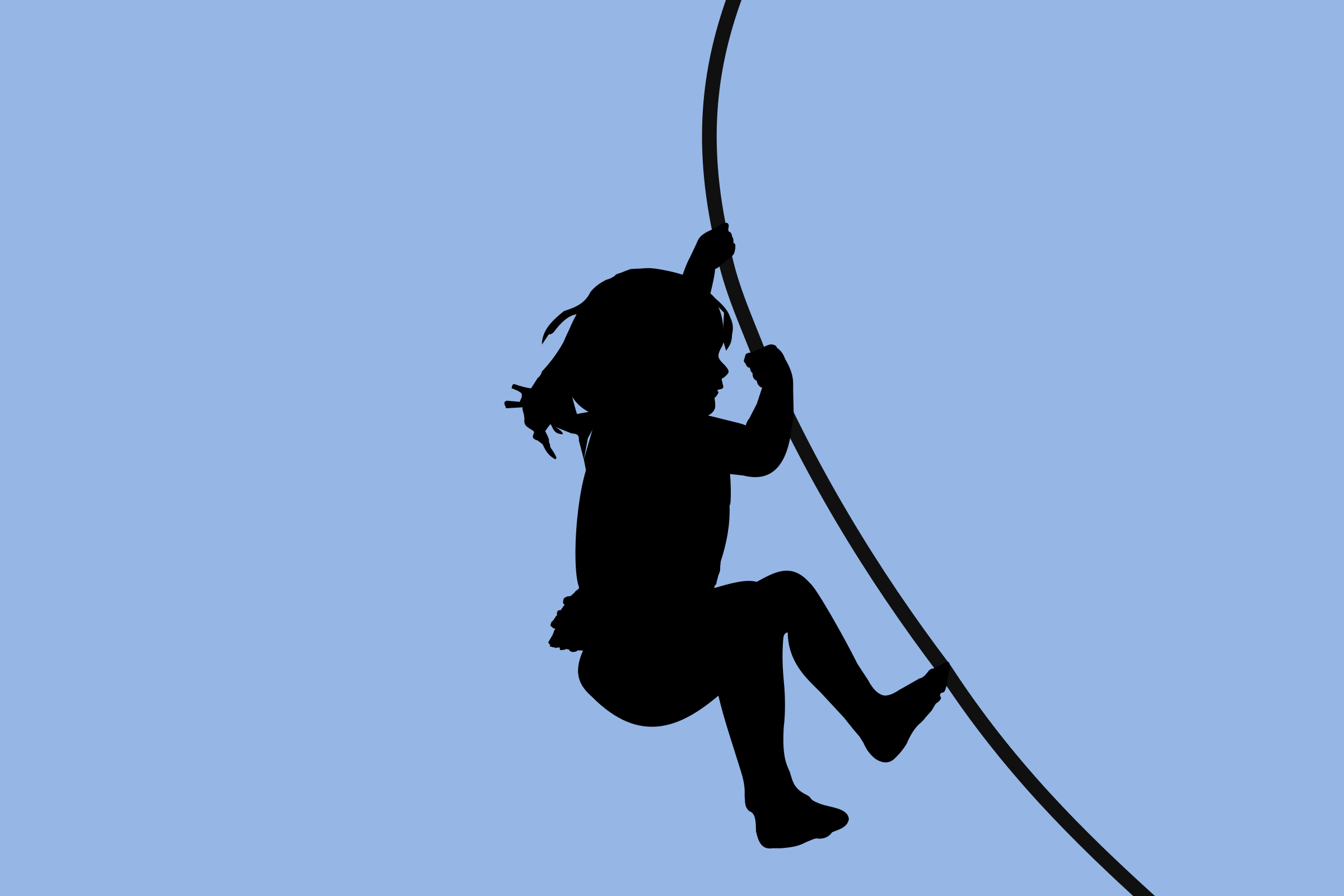 Child Climbing Silhouette by SunKing2