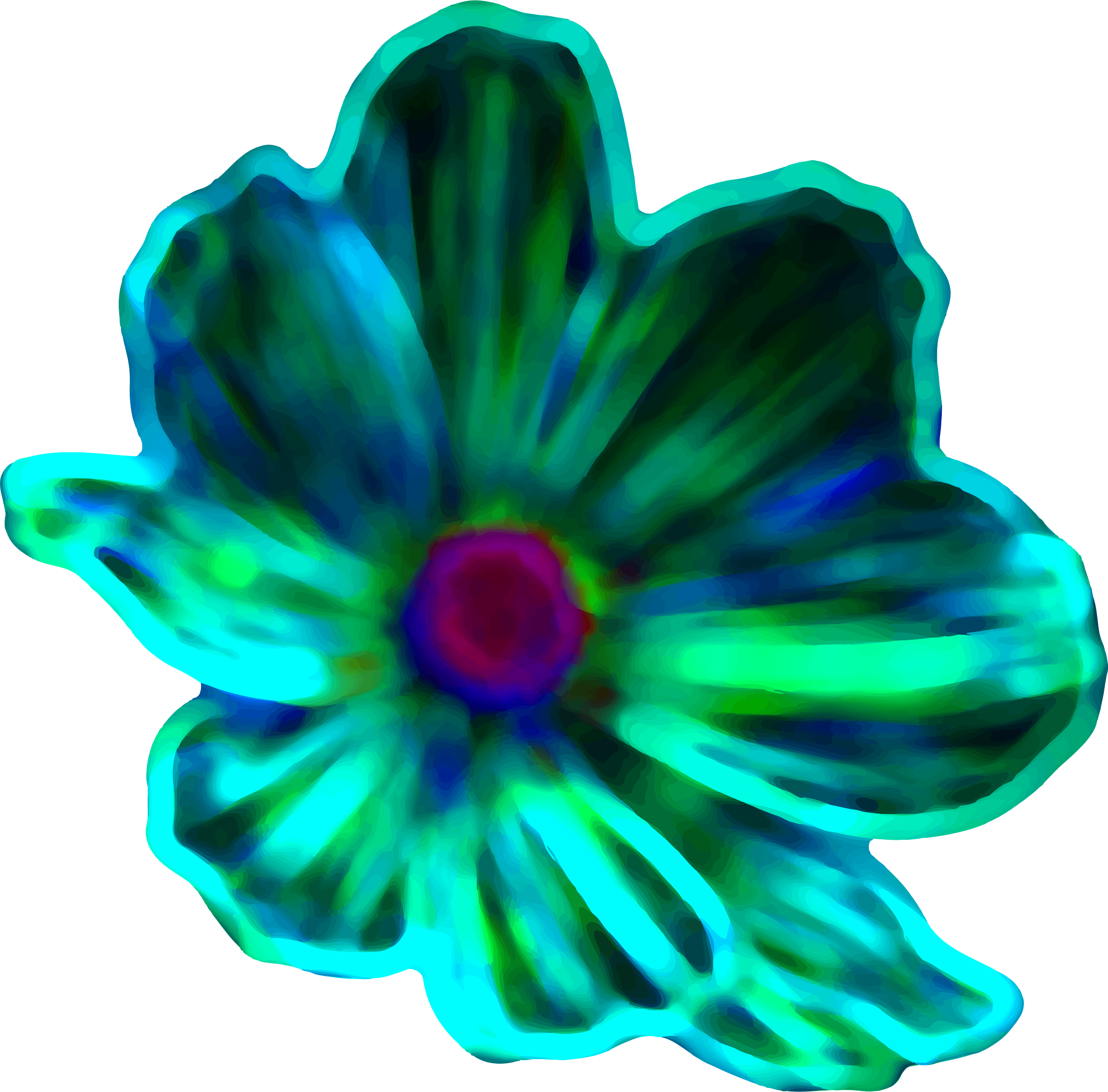 Neon flower (colour 3) by Firkin