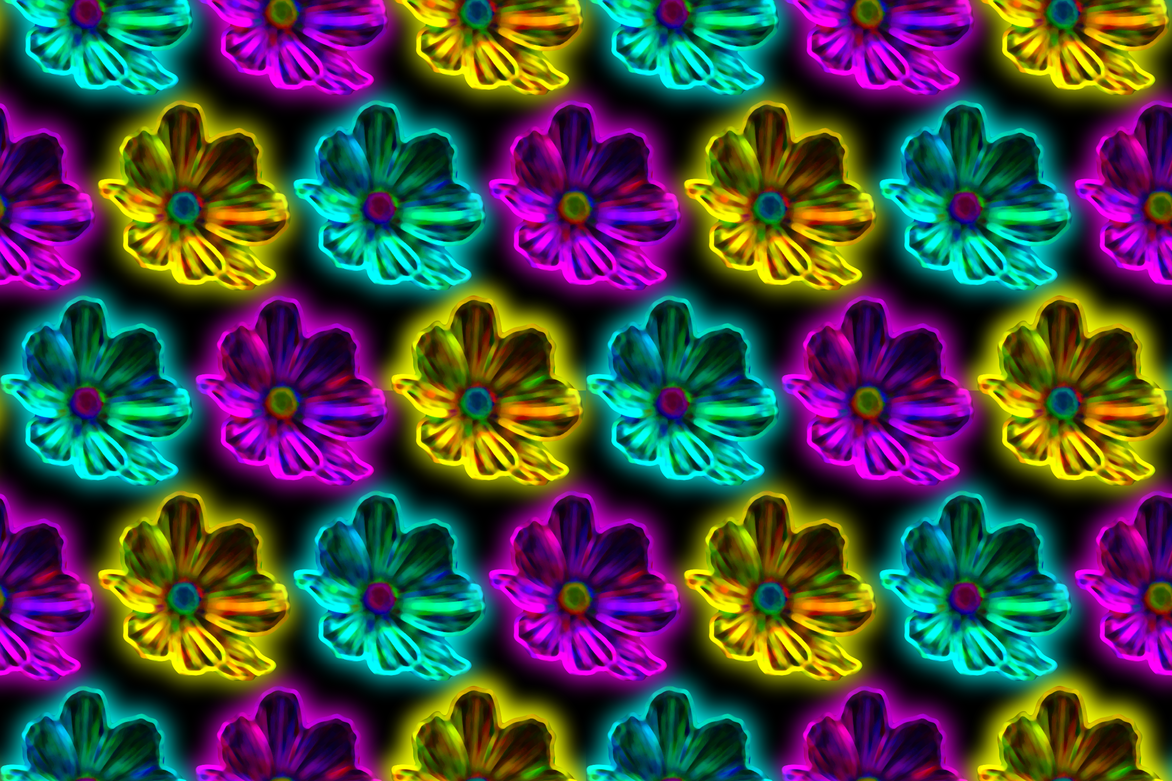 Neon flower background 2 by Firkin
