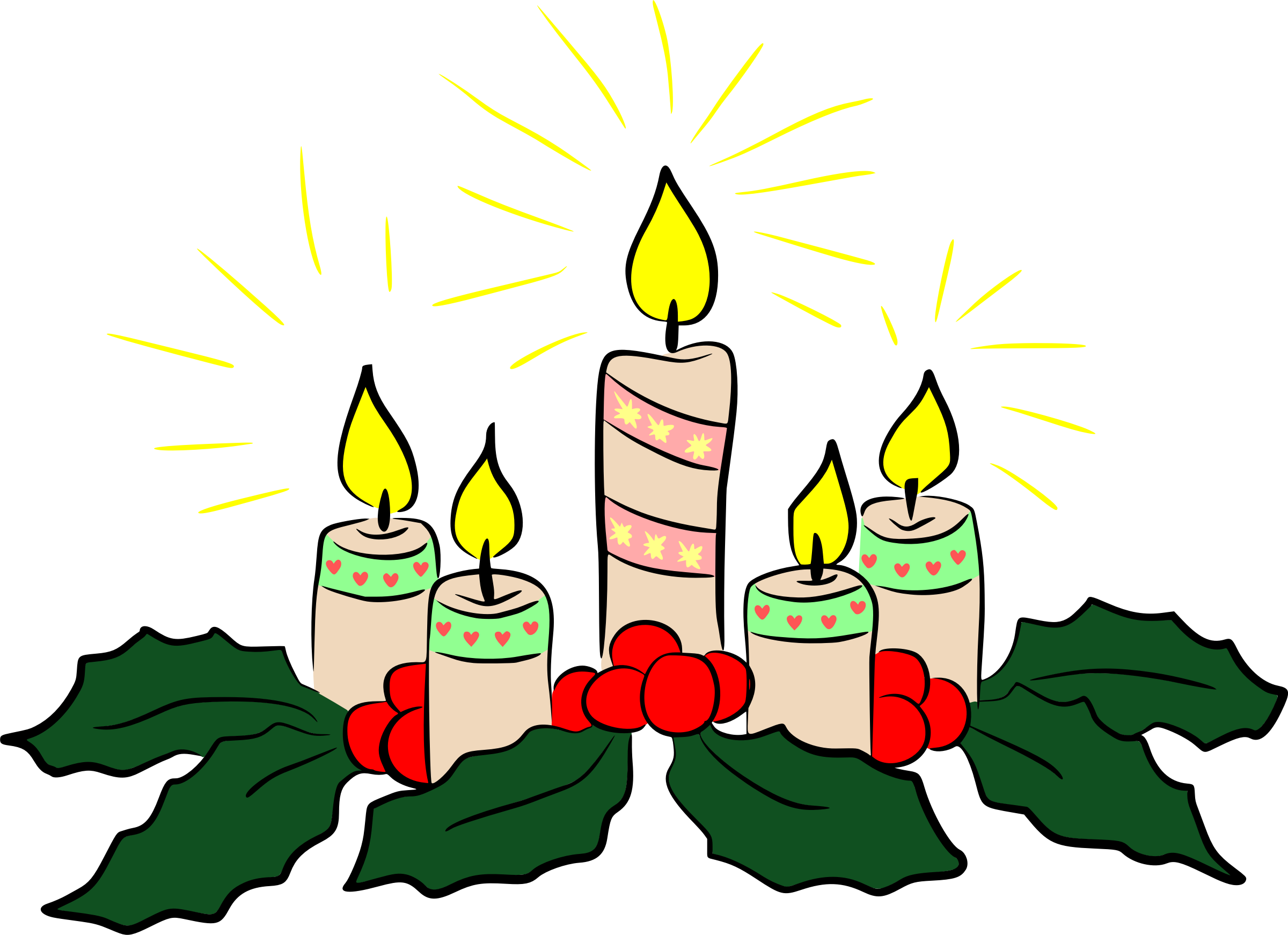 Christmas candles by Firkin