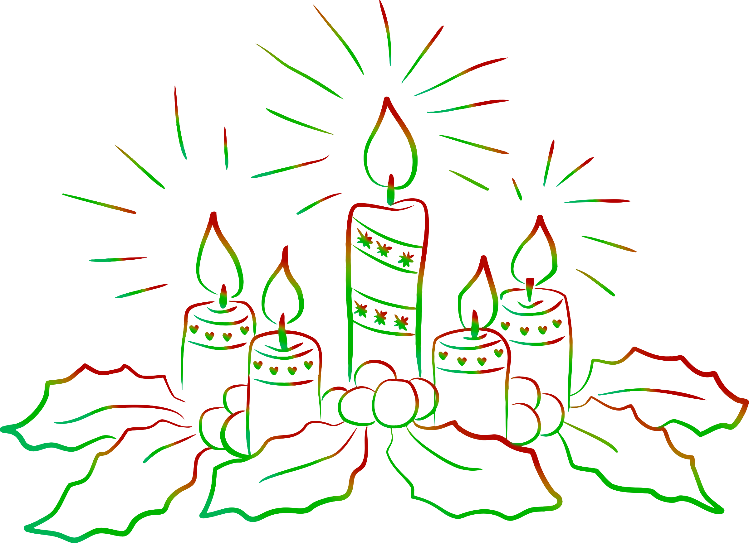 Christmas candles 2 by Firkin