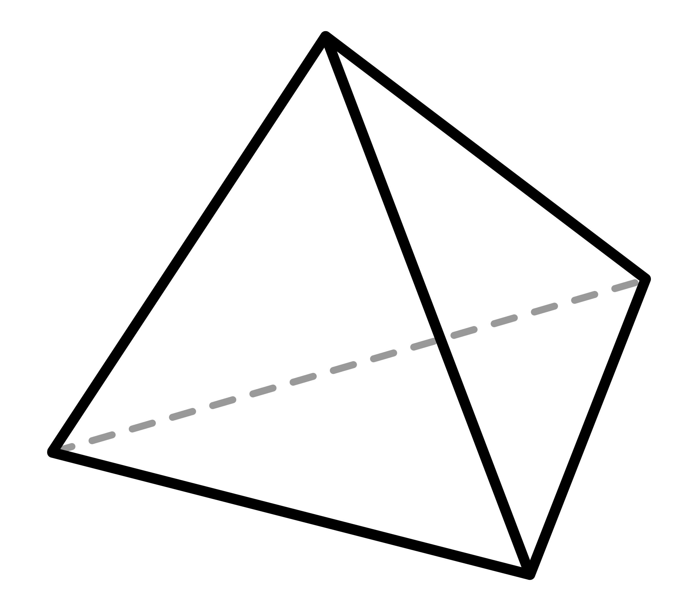 Clipart Tetrahedron