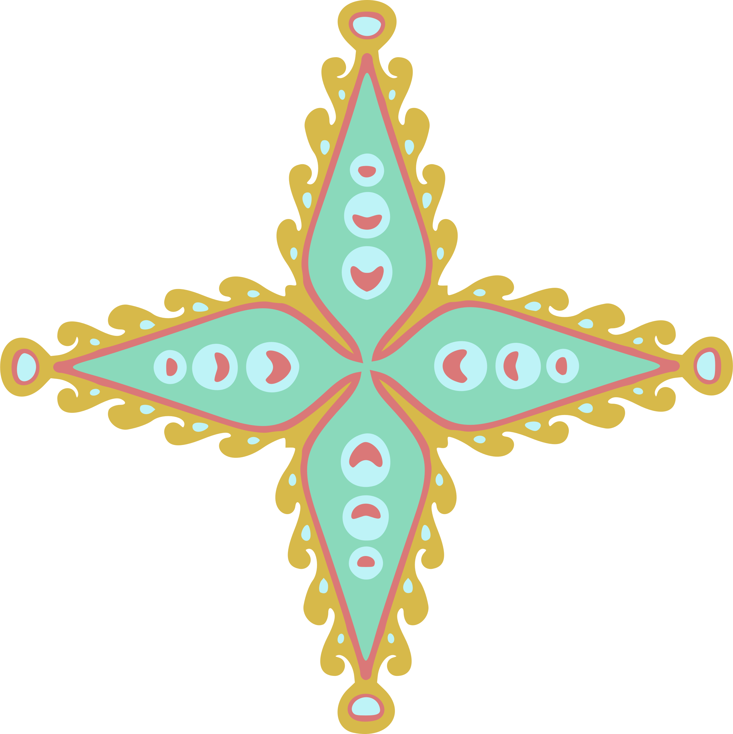 Ornamental star 55 (colour) by Firkin