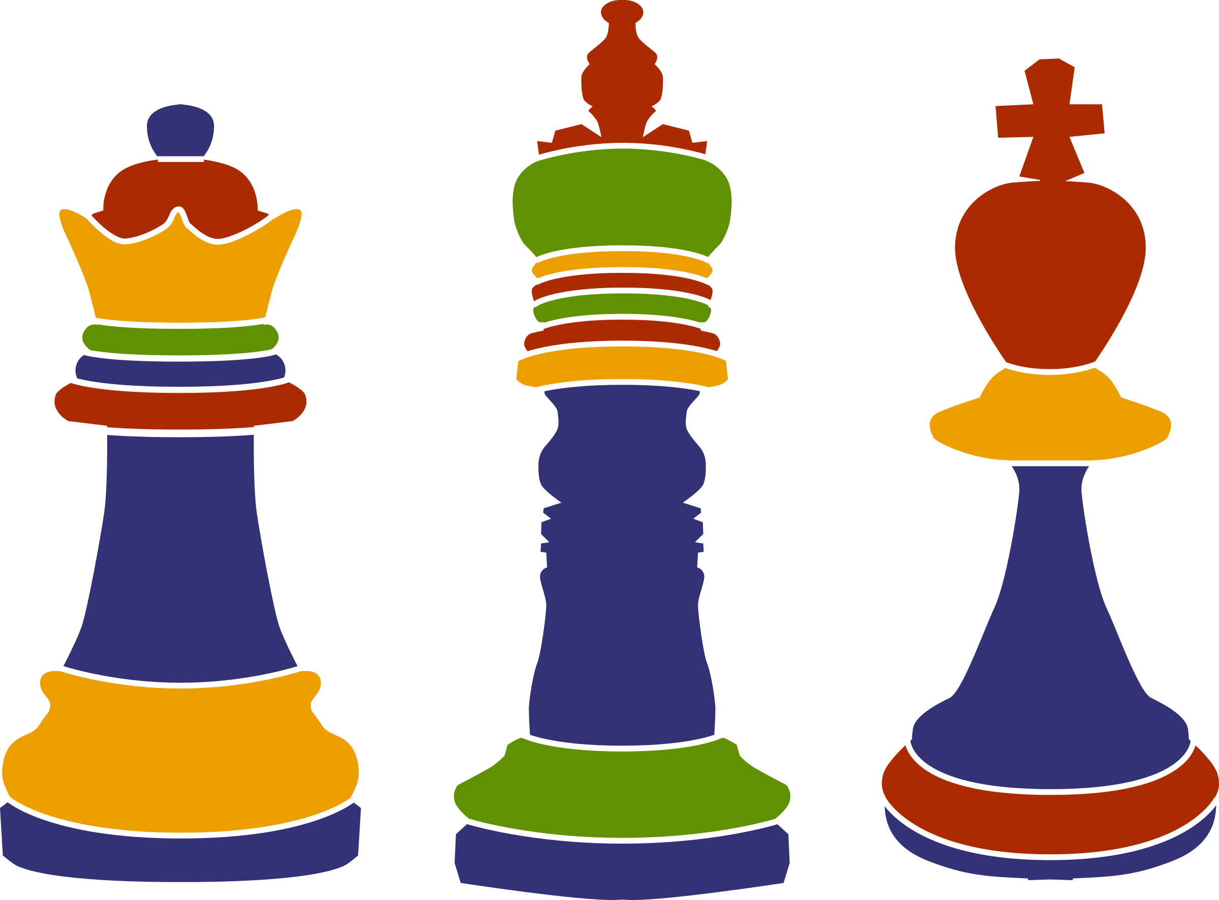 3 Chess Kings by Klàro
