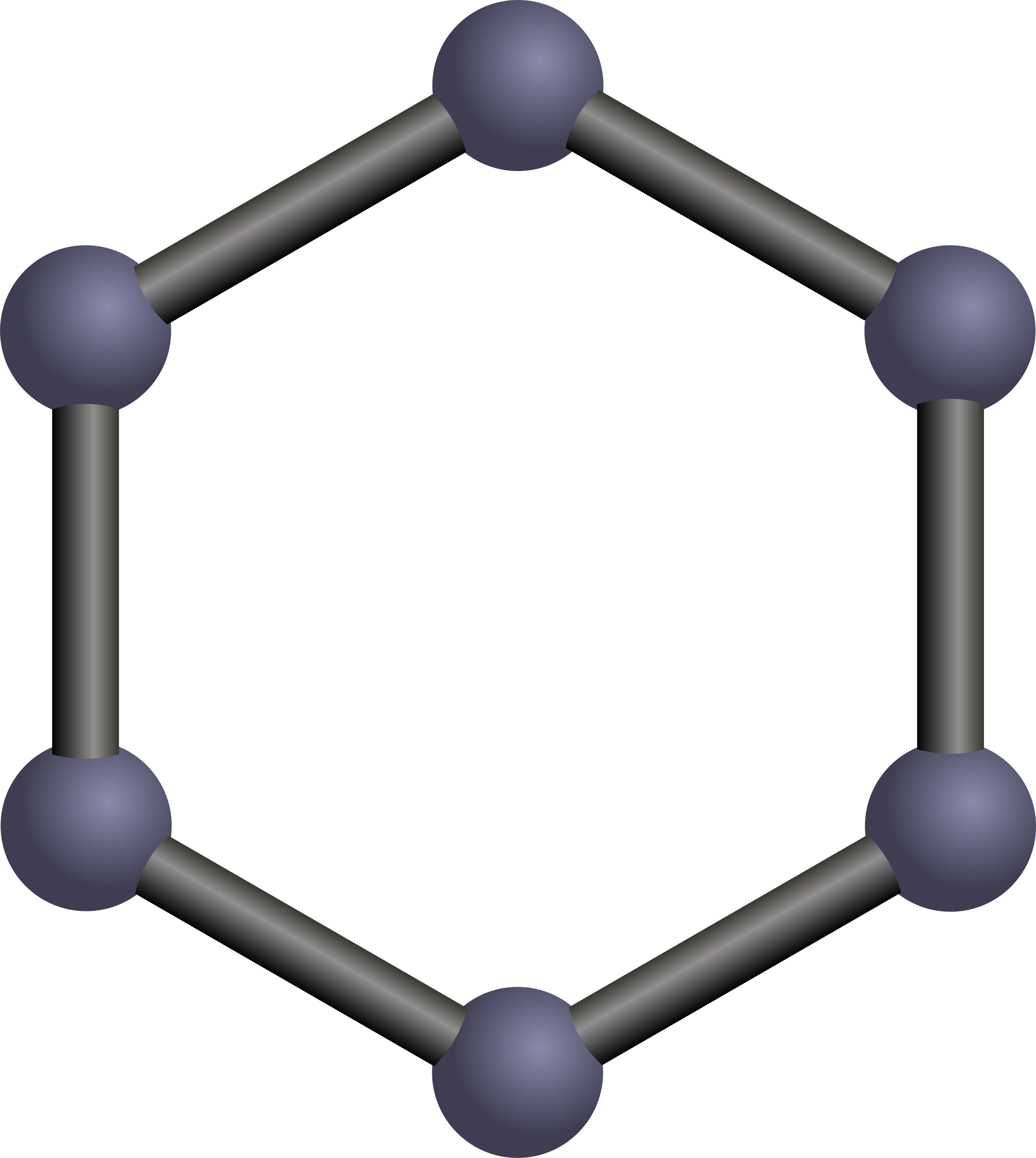 An explanation of the bonding in benzene including the delocalisation of the pi electrons