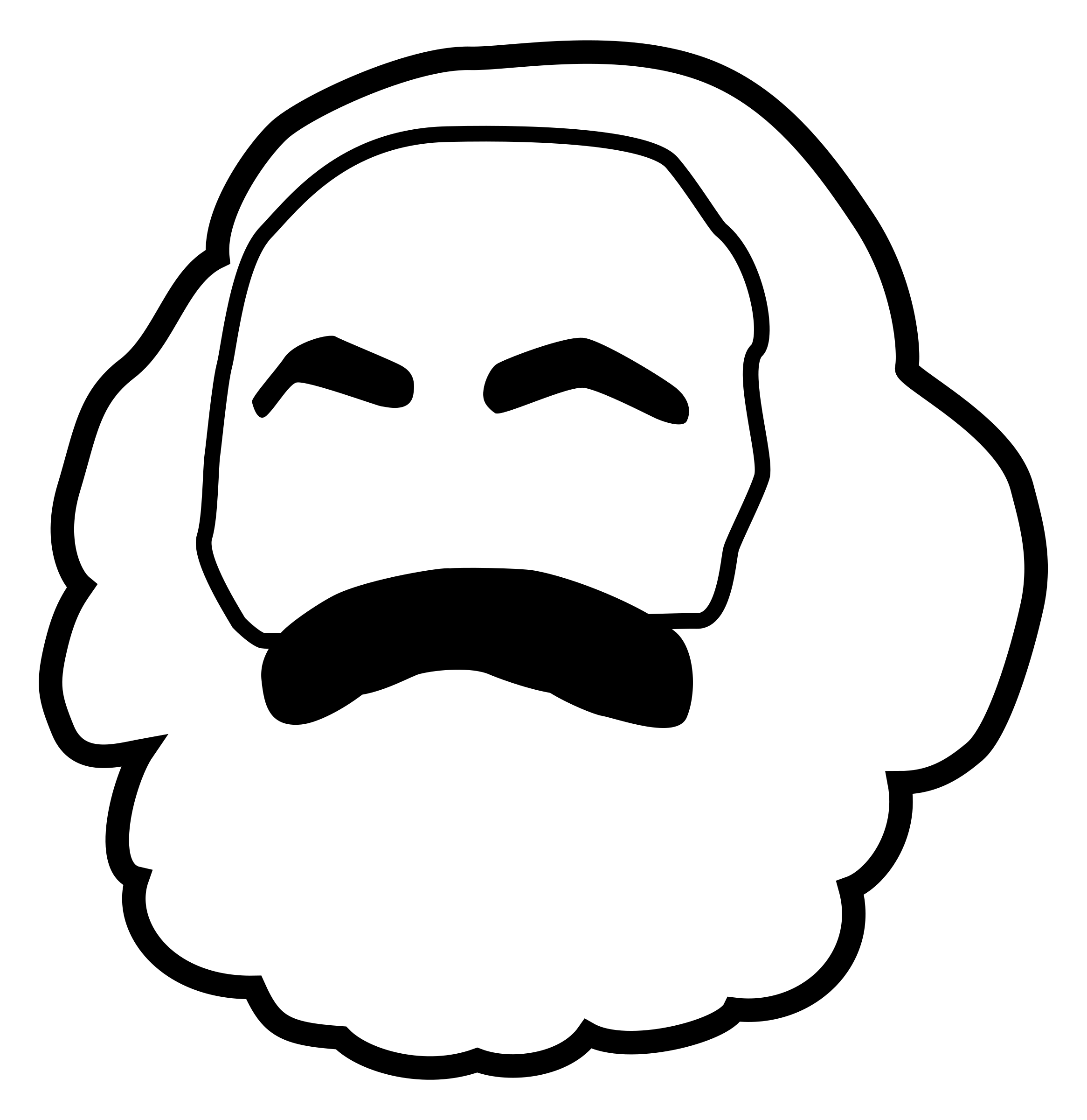 Karl Marx Head (Icon)  - 200 years by worker