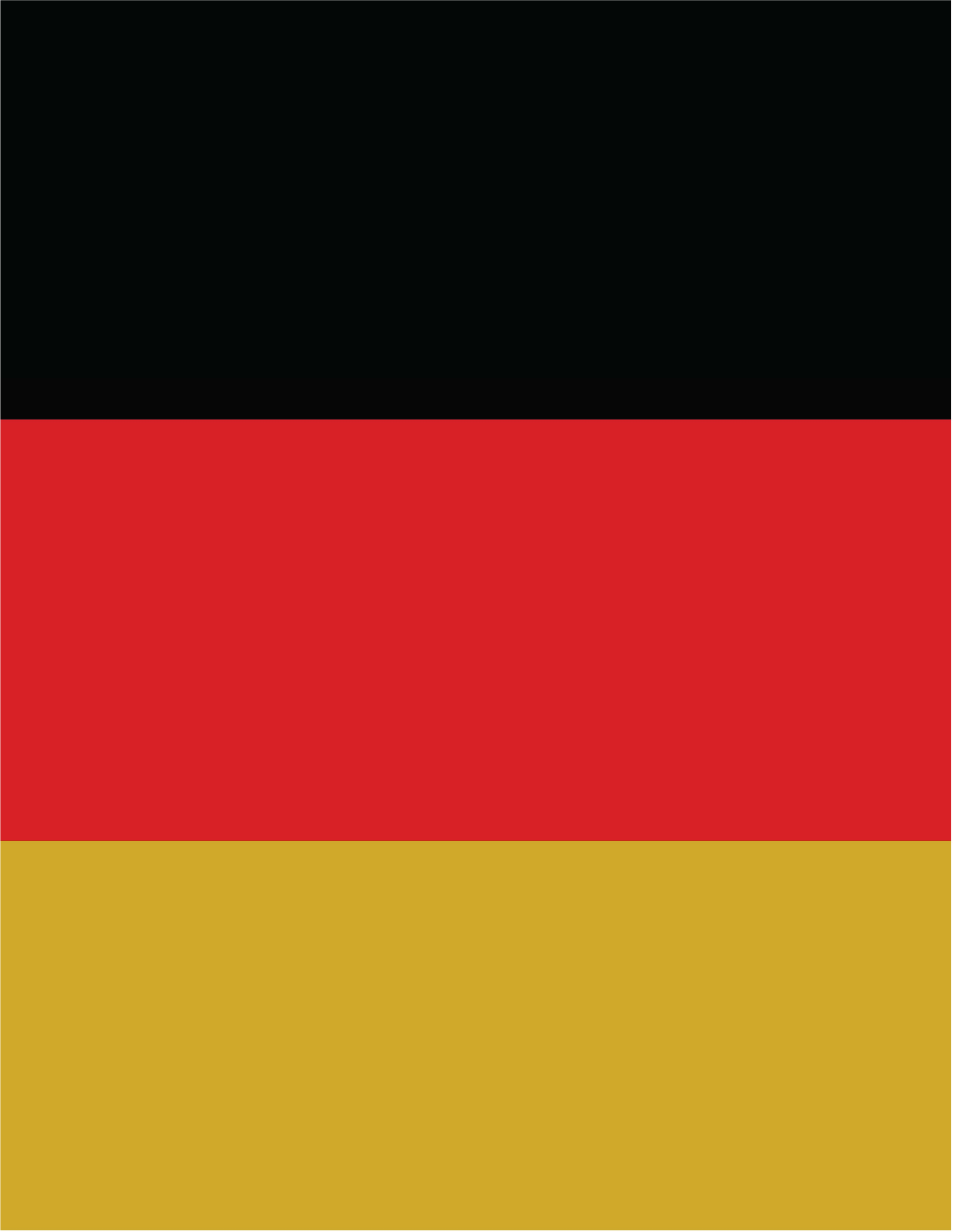 German Country Flag - Vertical by Kat Surth