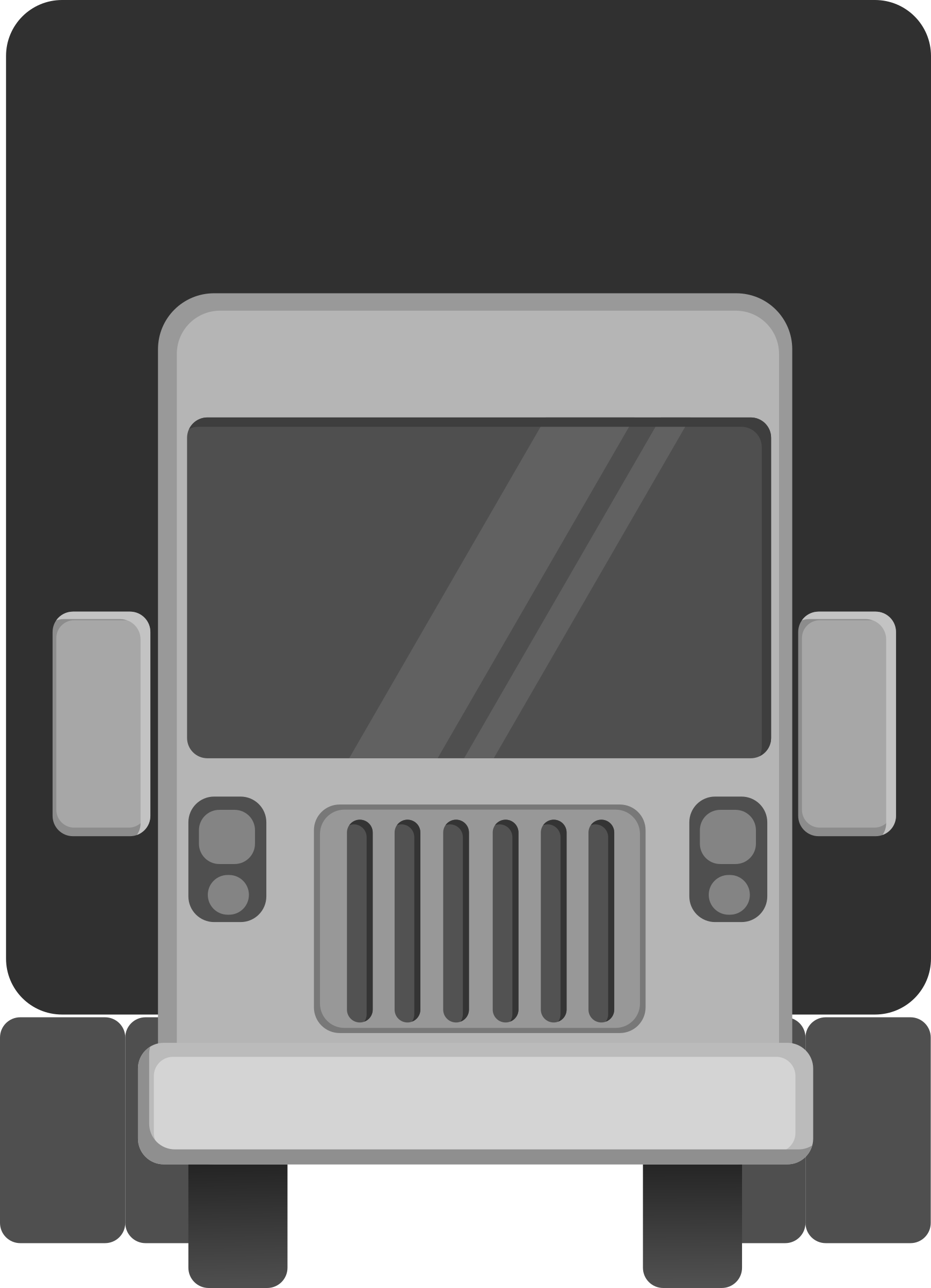 truck front view minimal vehicle by monsterbraingames