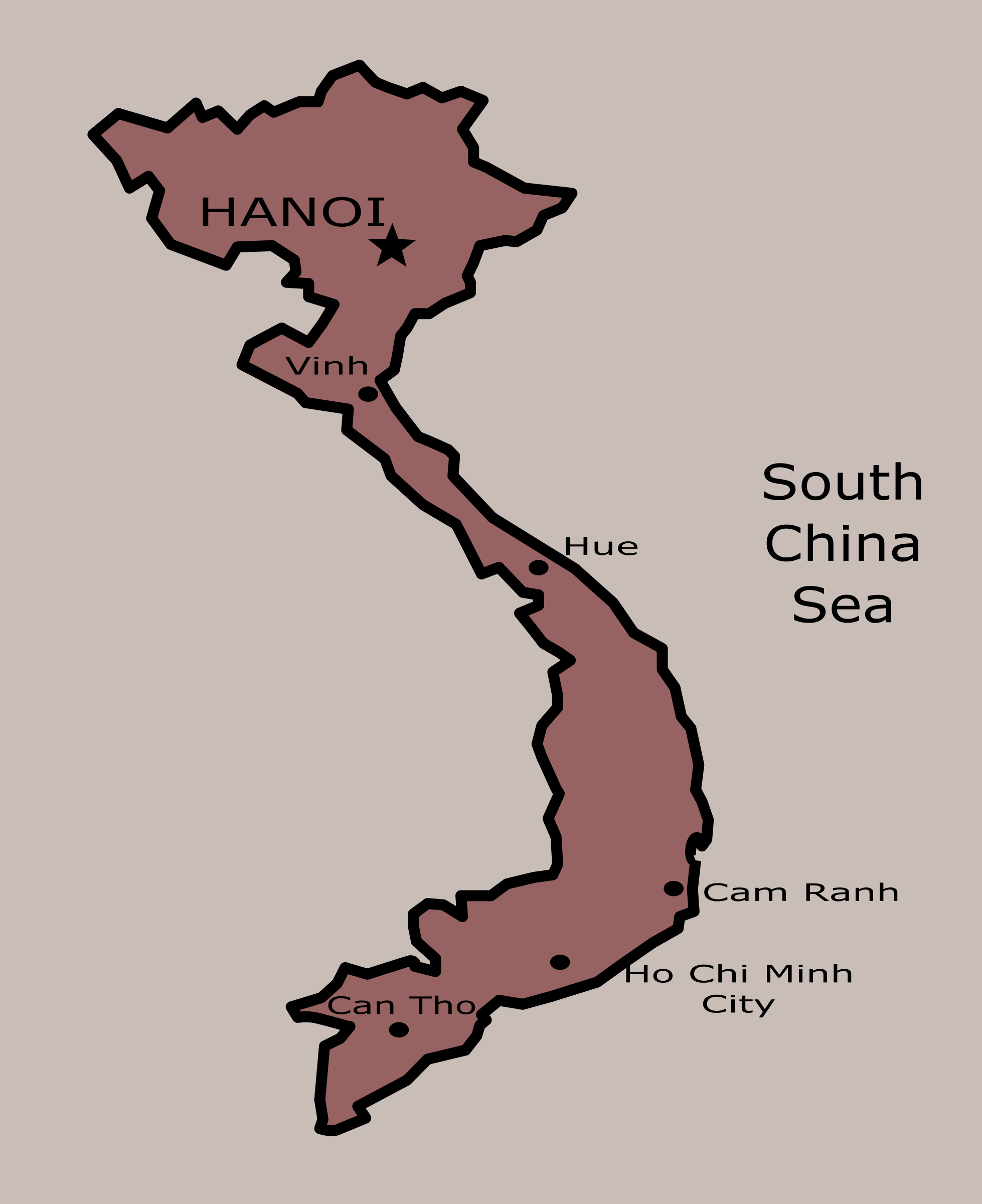 Clipart - Vietnam Map