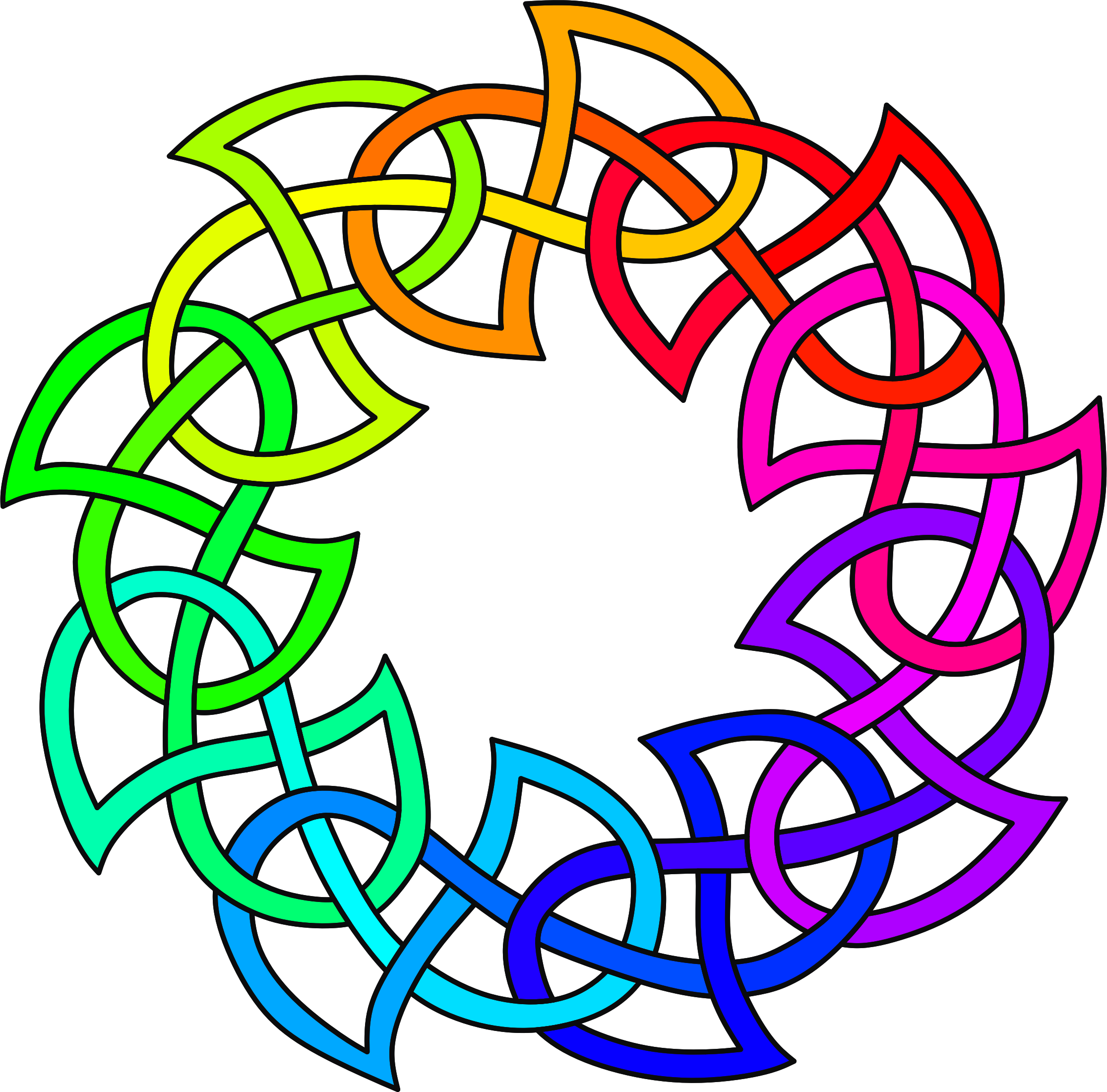 Celtic knot 2 (colour) by Firkin