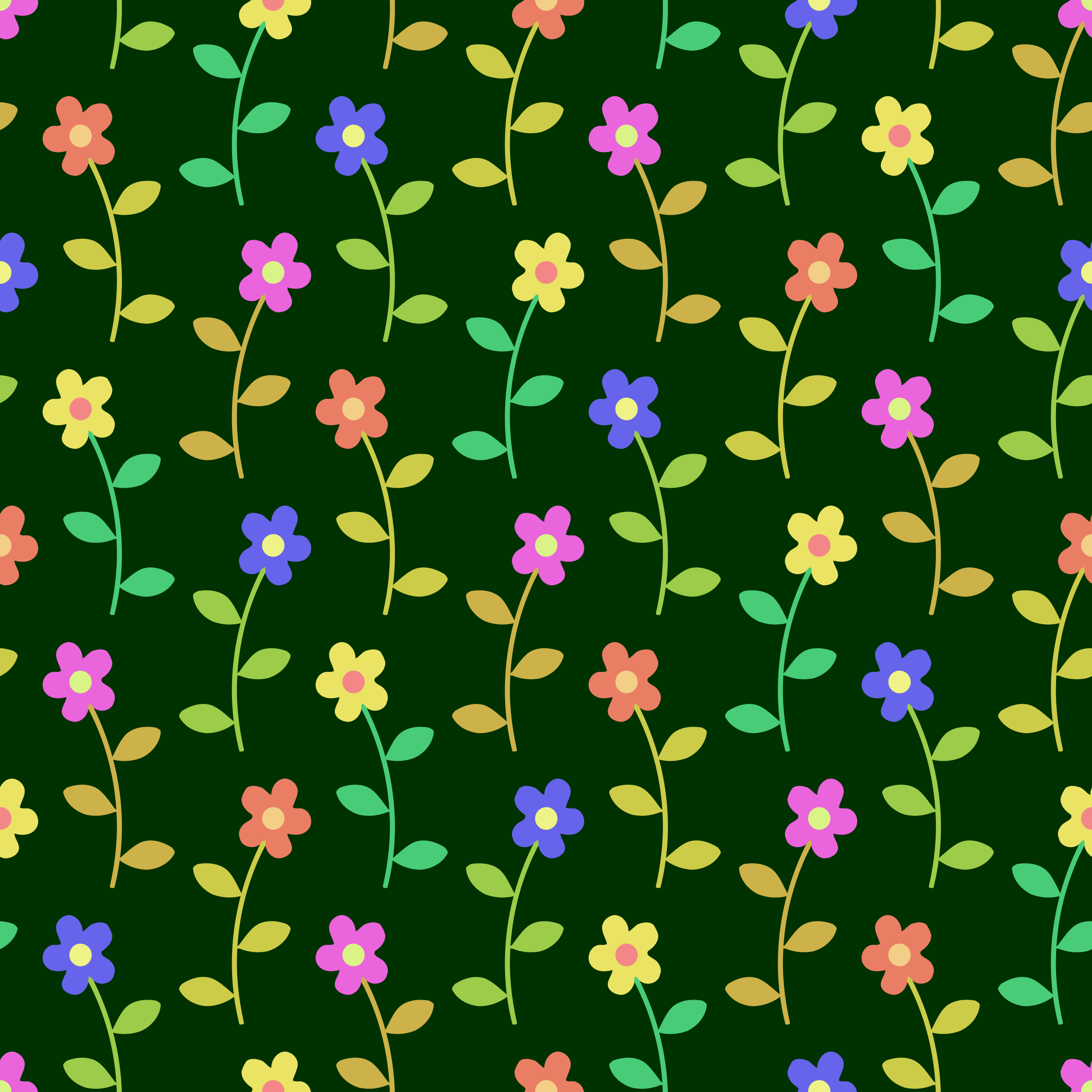 Floral pattern 8 (colour 2) by Firkin