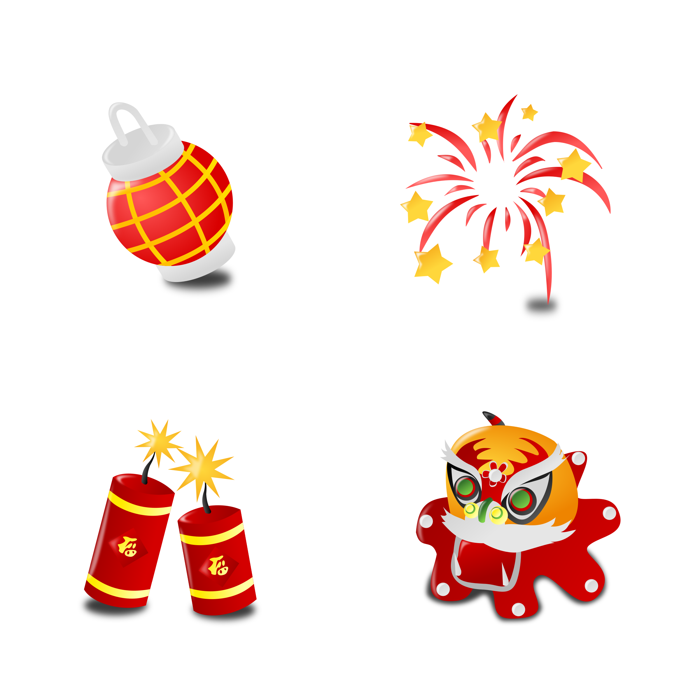 Chinese New Year's Icon Collection Set by mvolz