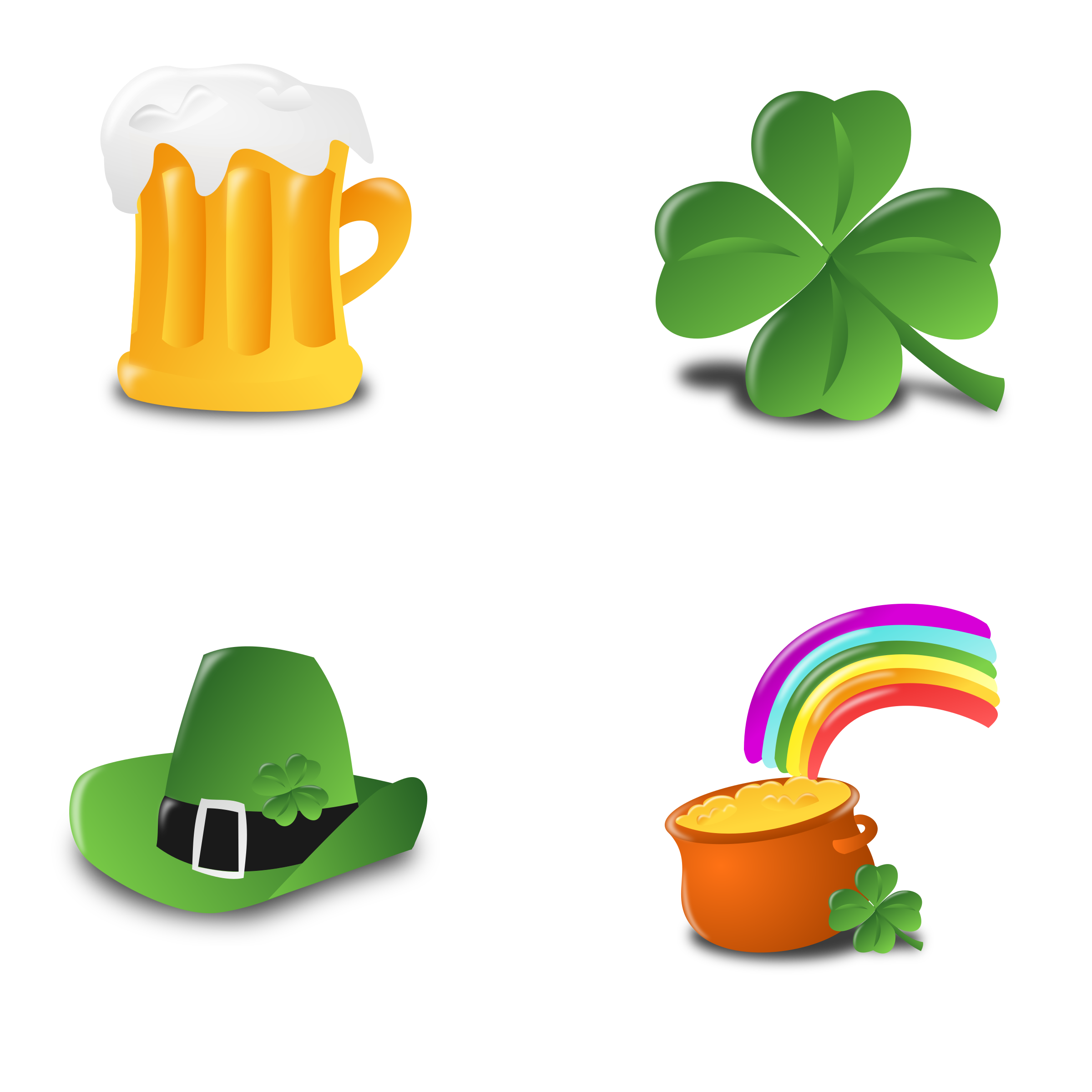St. Patrick's Day Icon Set Collection by mvolz