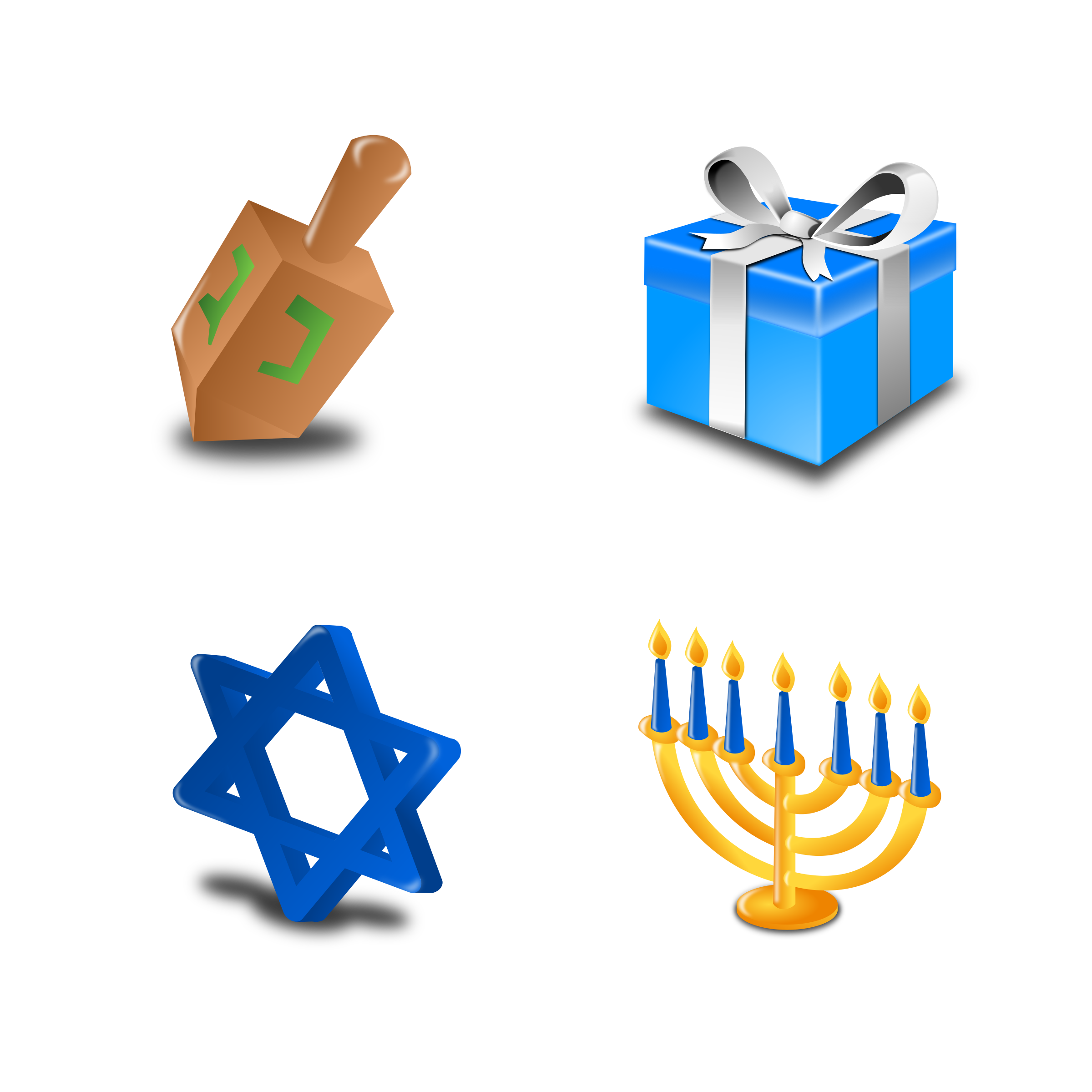 Hannukah Icon Set Collection by mvolz