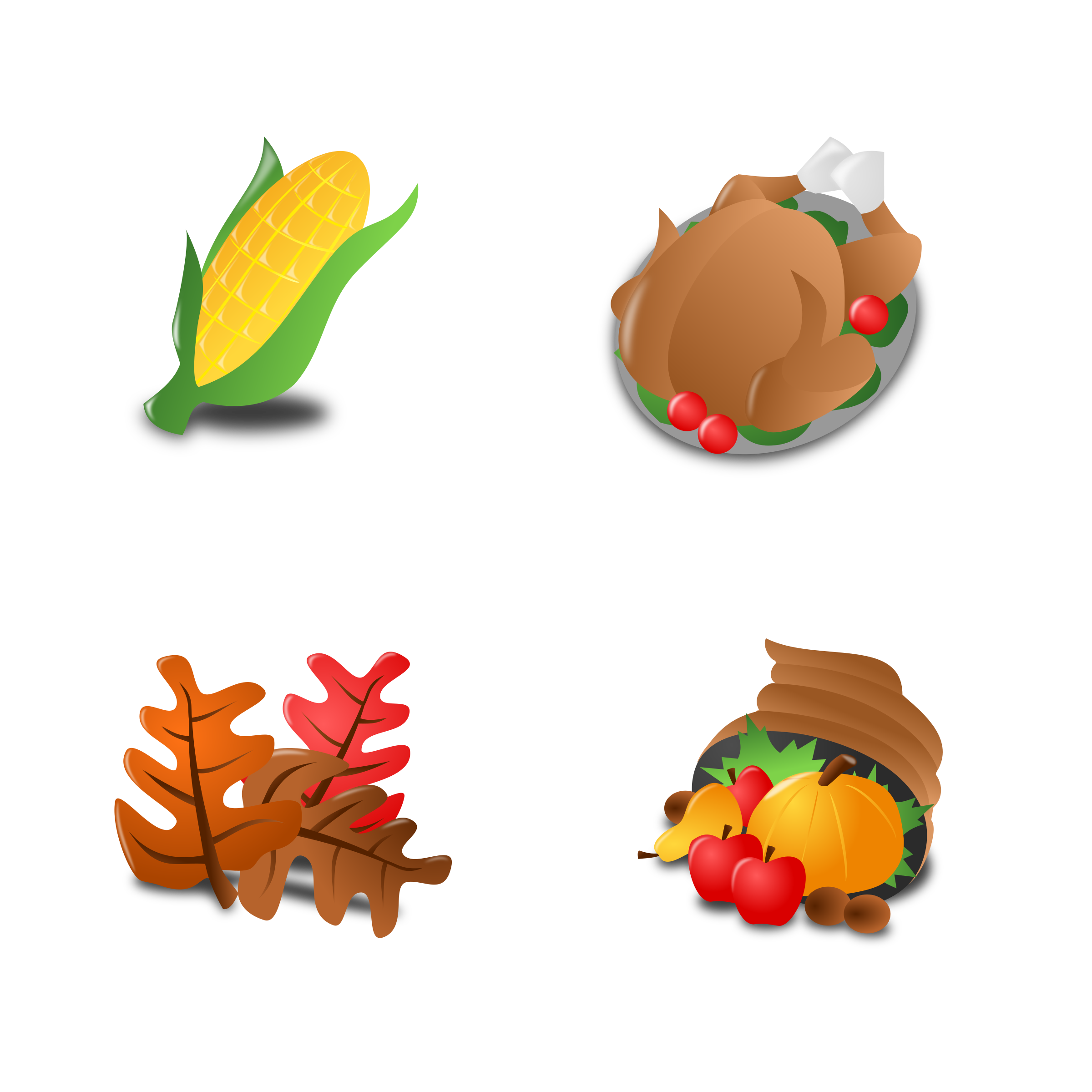 Thankgiving Icon Set Collection by mvolz