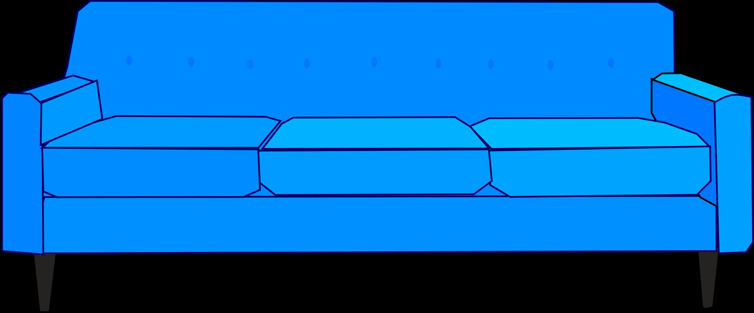 Clipart Blue Sofa