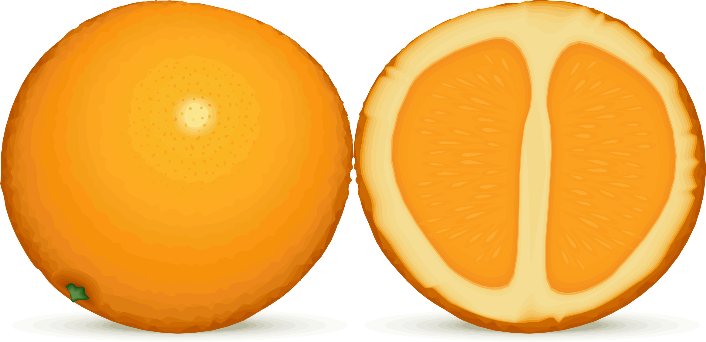 Animated orange