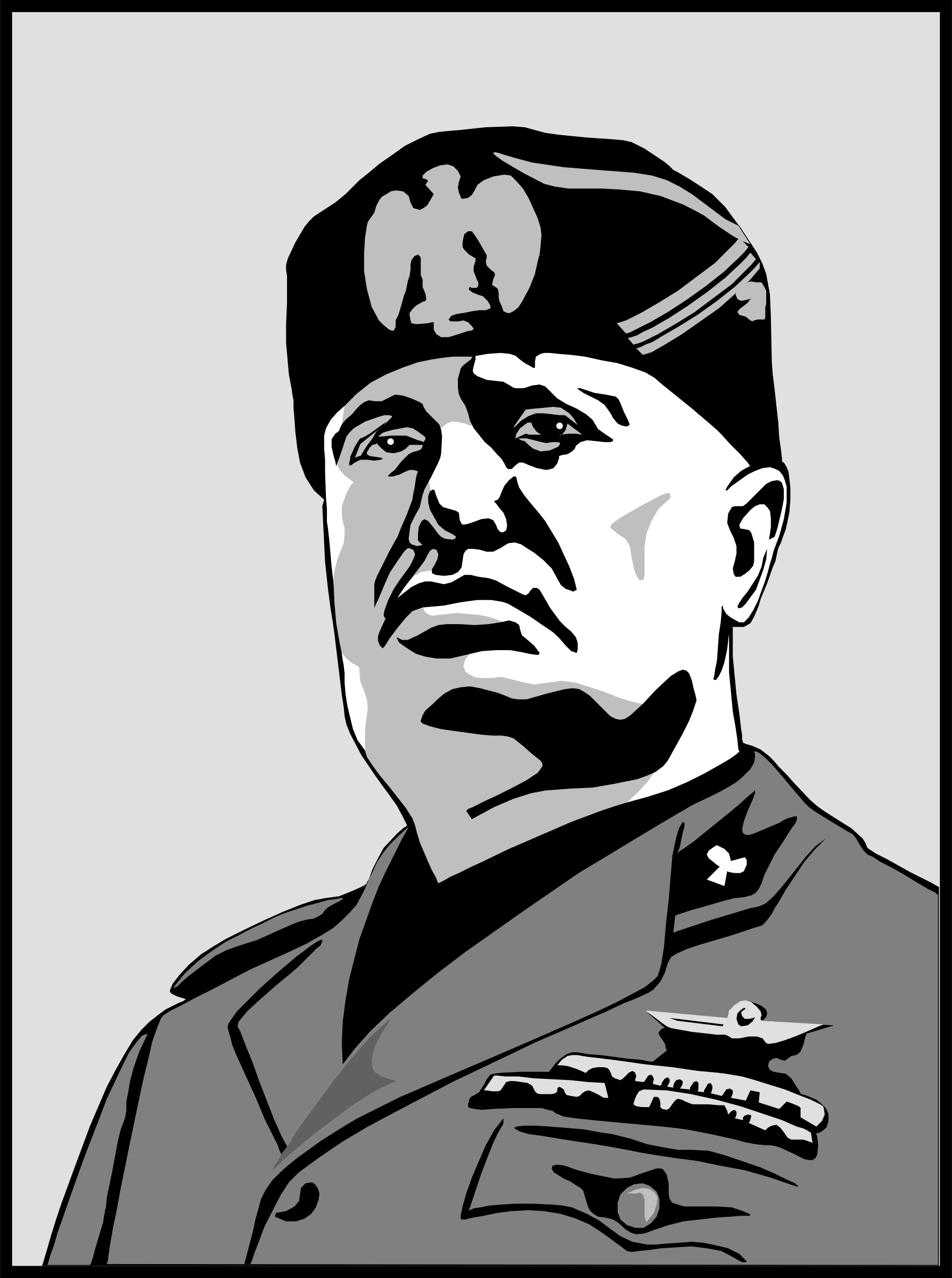 benito mussolini by cactus cowboy