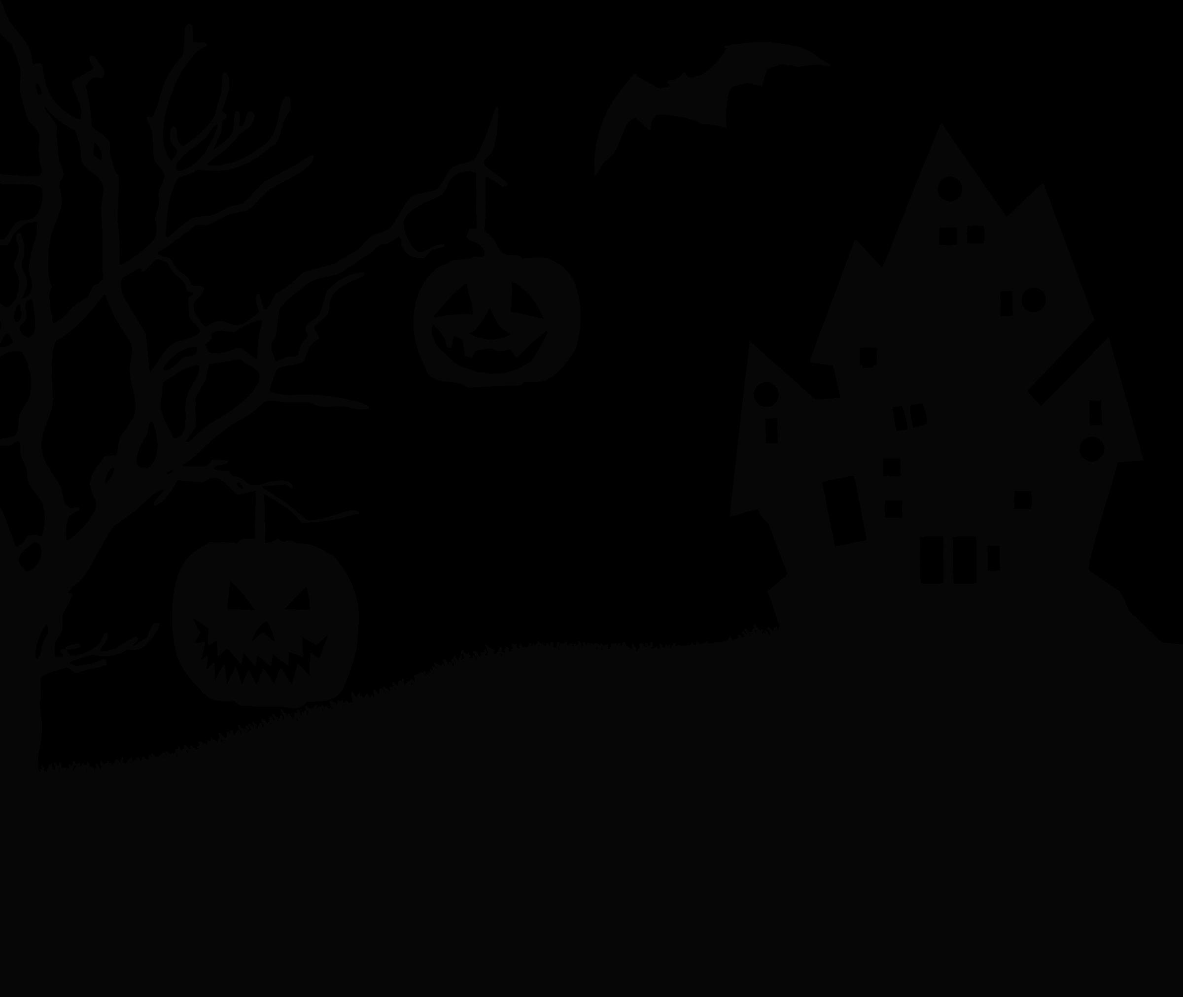 Clipart Halloween Landscape Silhouette