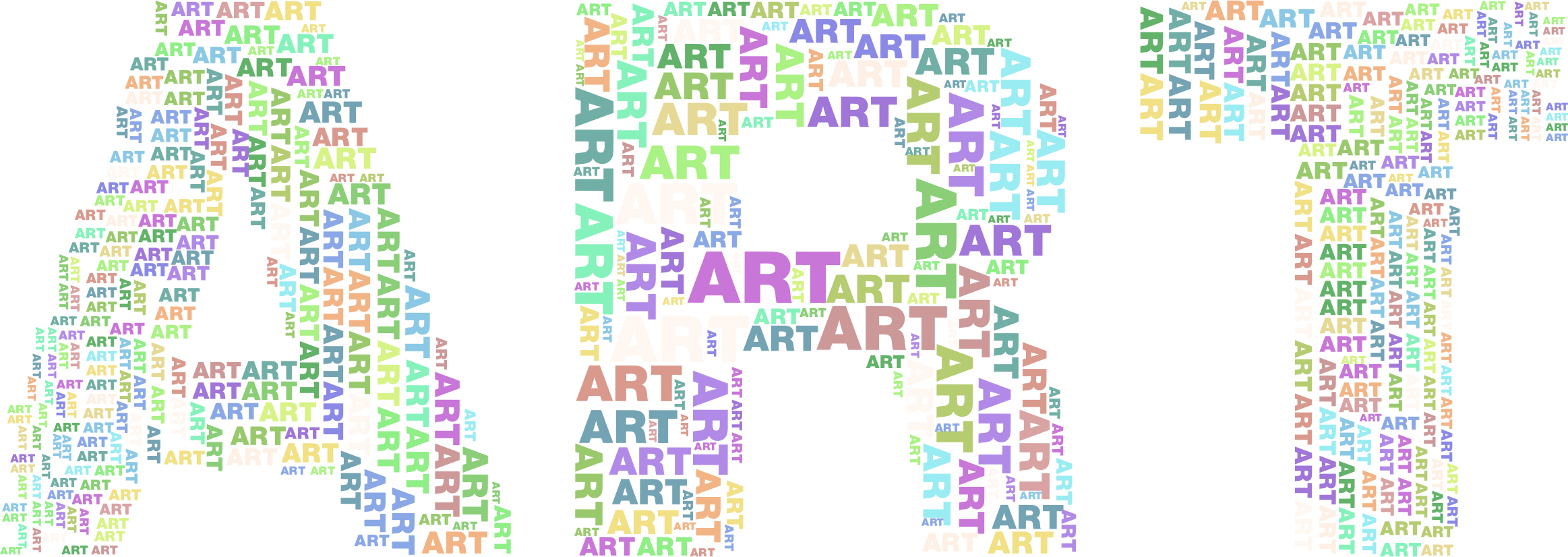 Art Fractal Typography No Background by GDJ