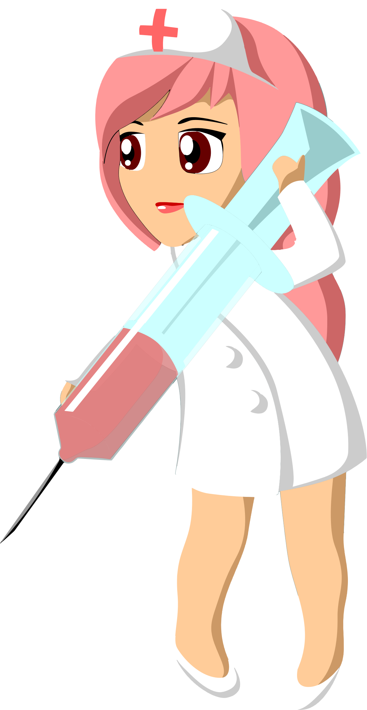 Nurse With Giant Syringe by GDJ