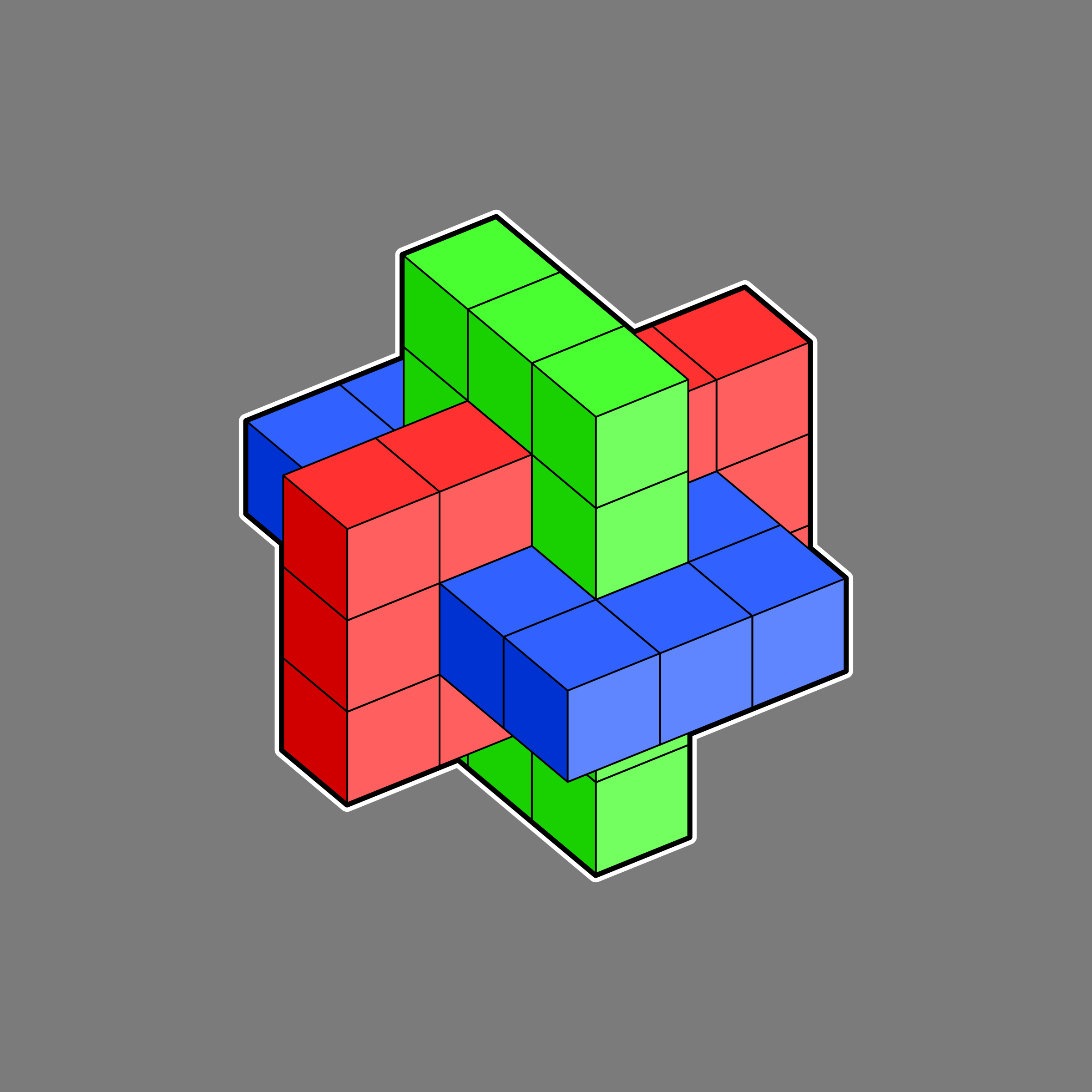 interlocking cubes by Lazur URH