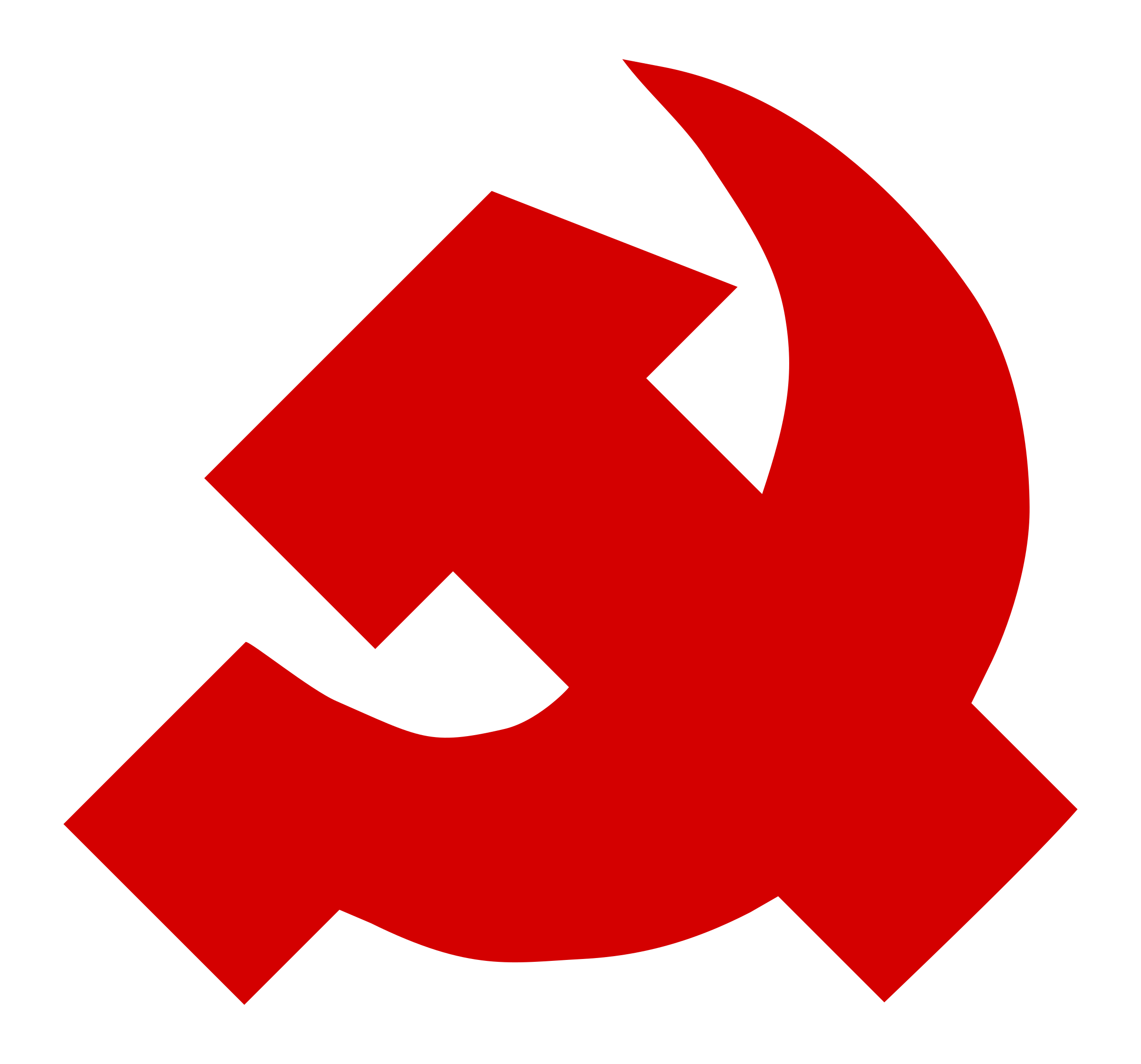 thick hammer and sickle by worker