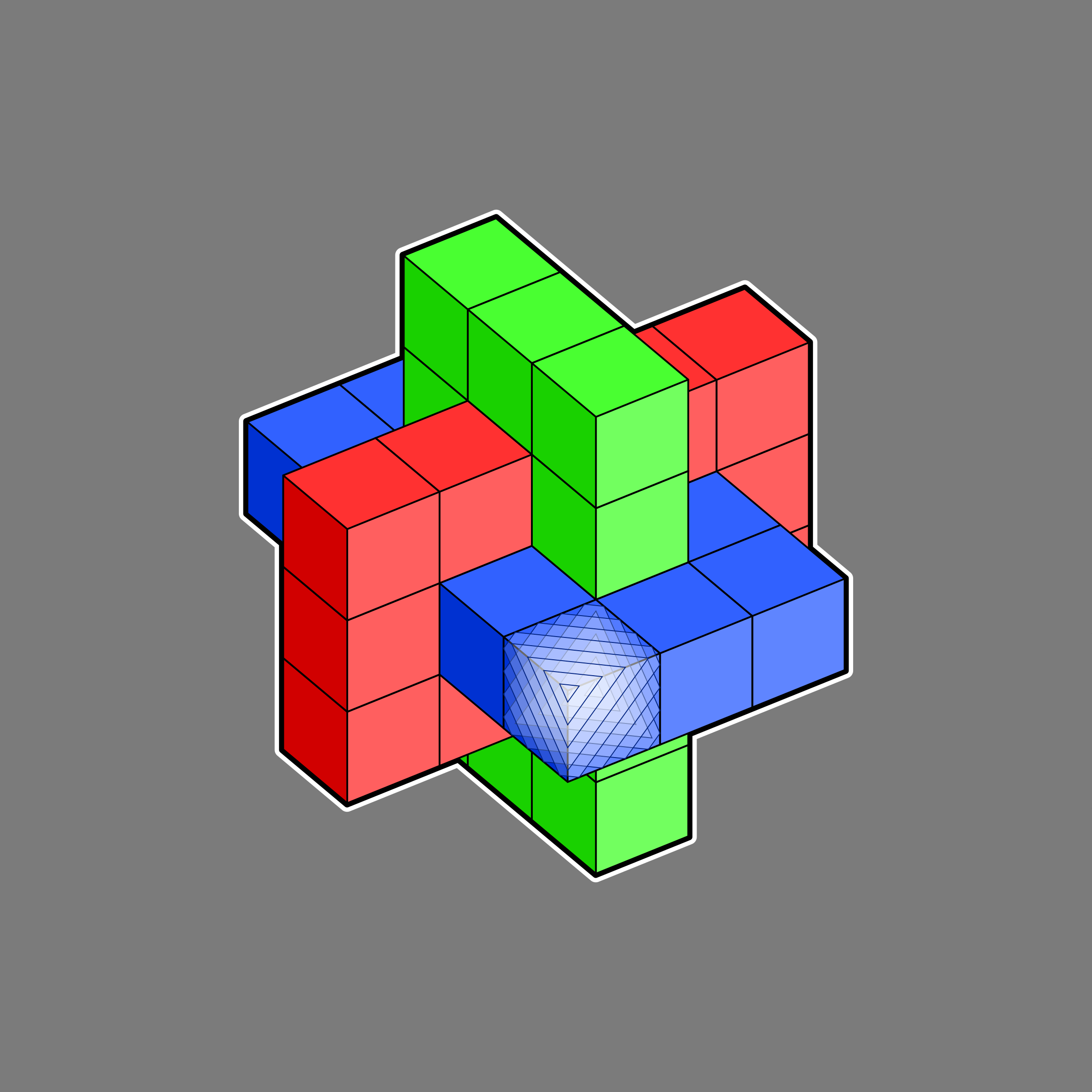 interlocking cubes 2 by Lazur URH