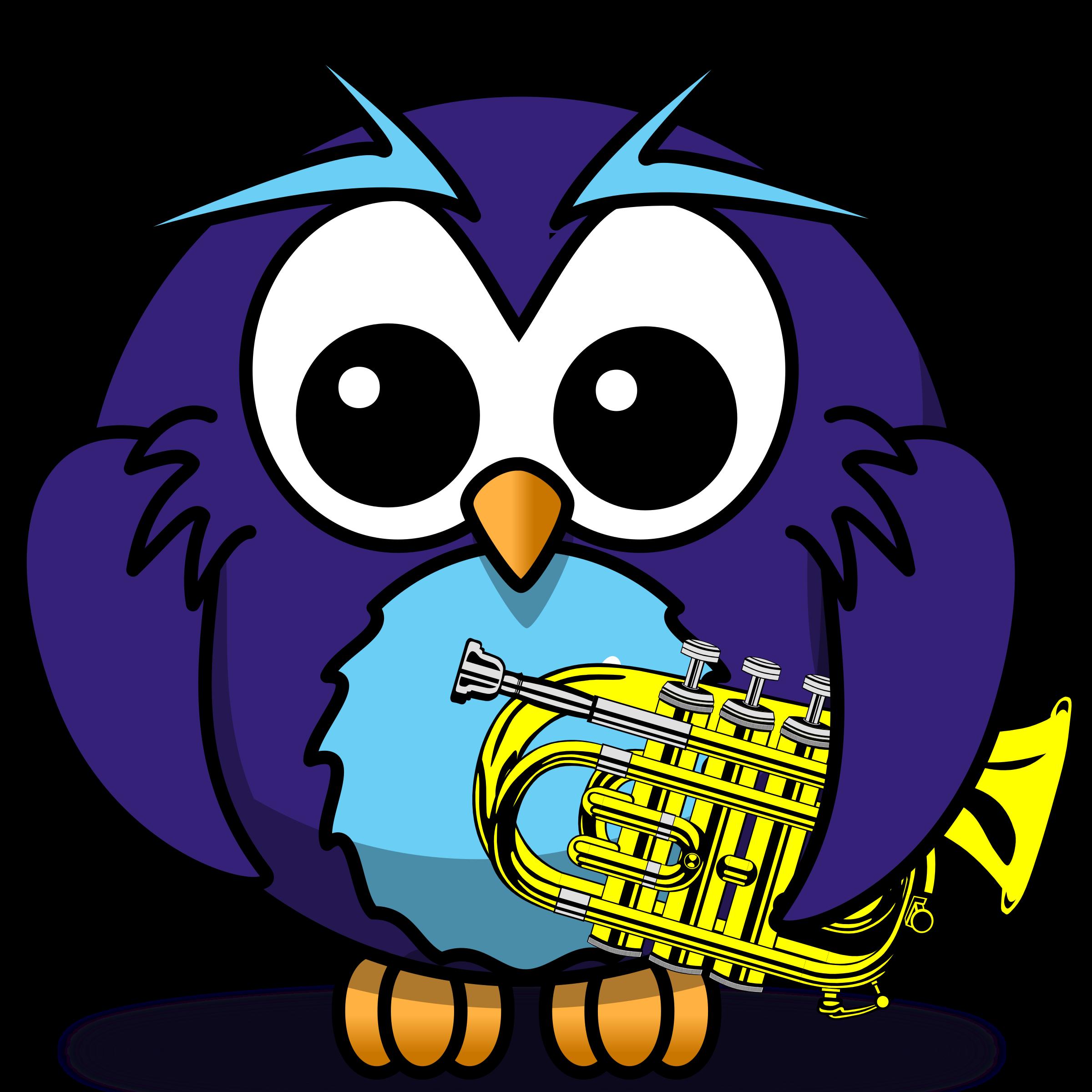 clipart little owl blues