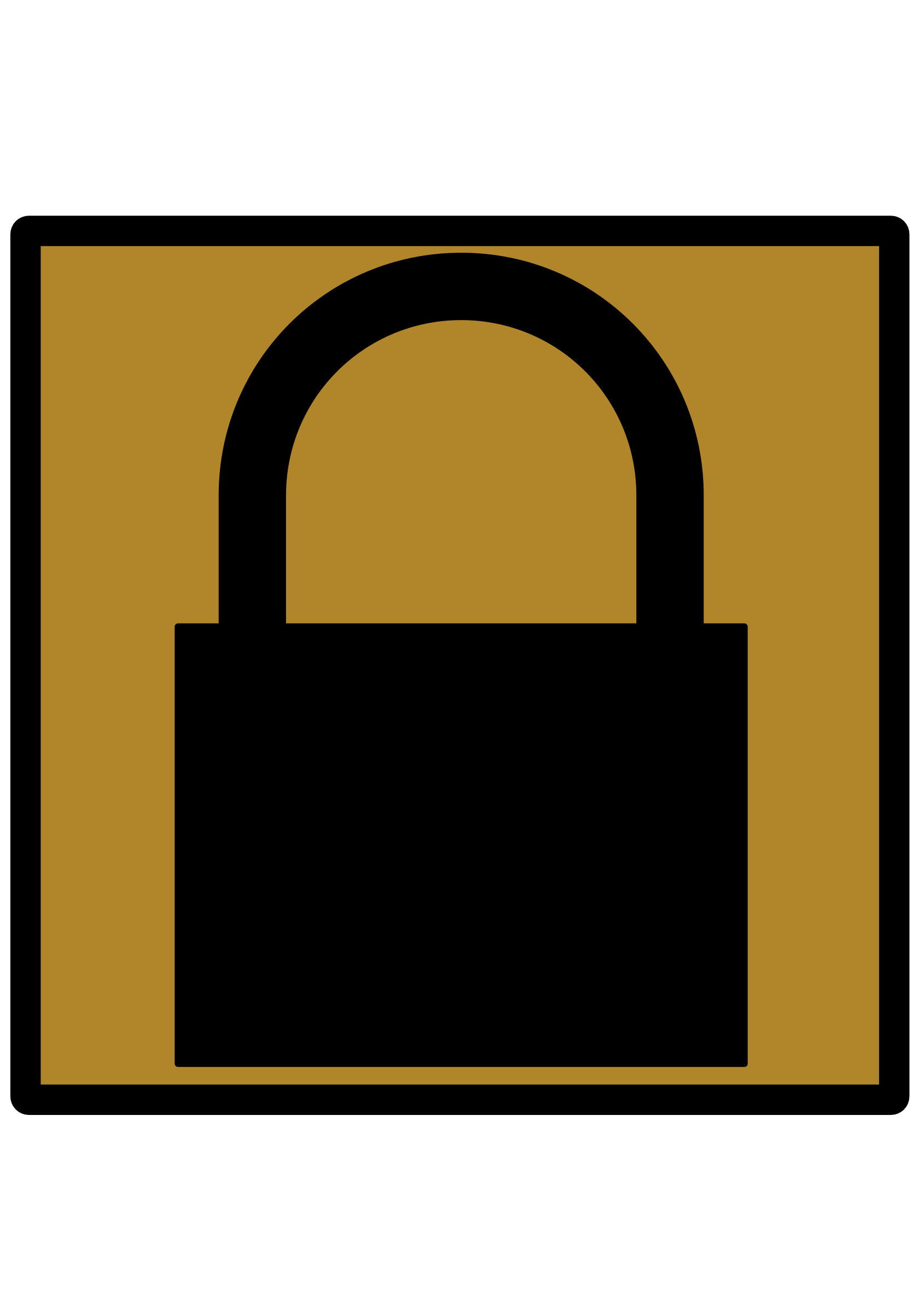 Padlock Silhouette Icon [Umber] by Vookimedlo
