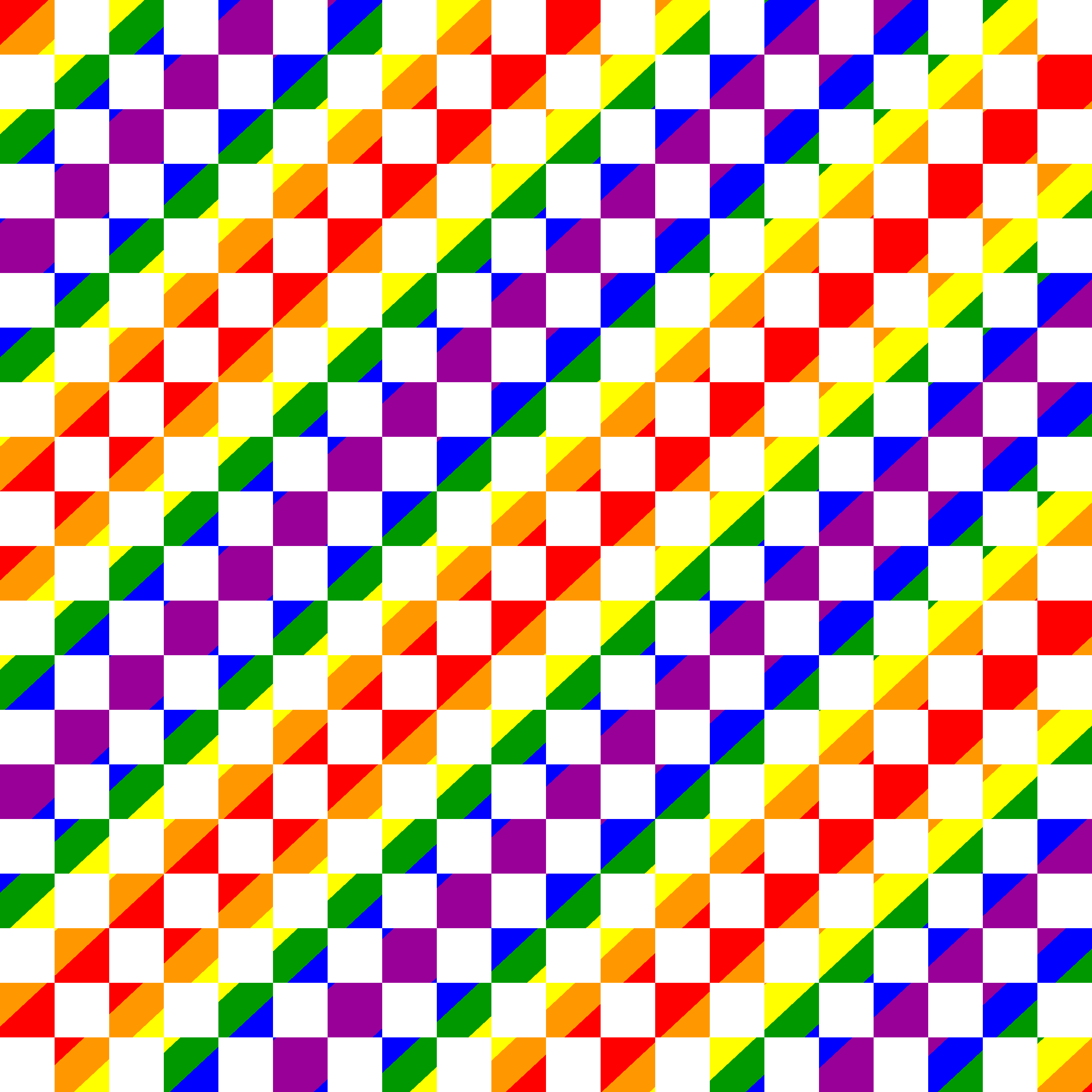 Square pattern with rainbow gradient by Manuela.