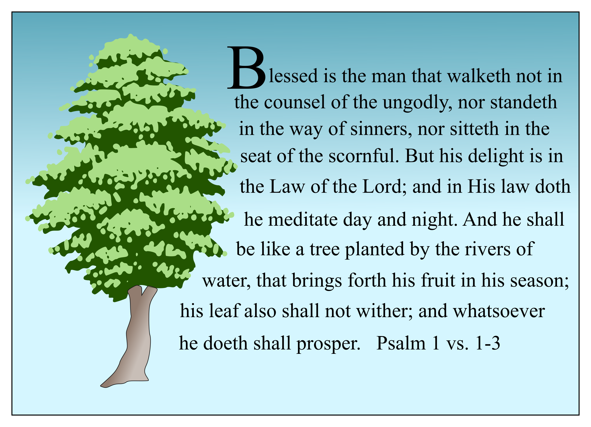 Tree & Psalm 1 by Raker Tooth