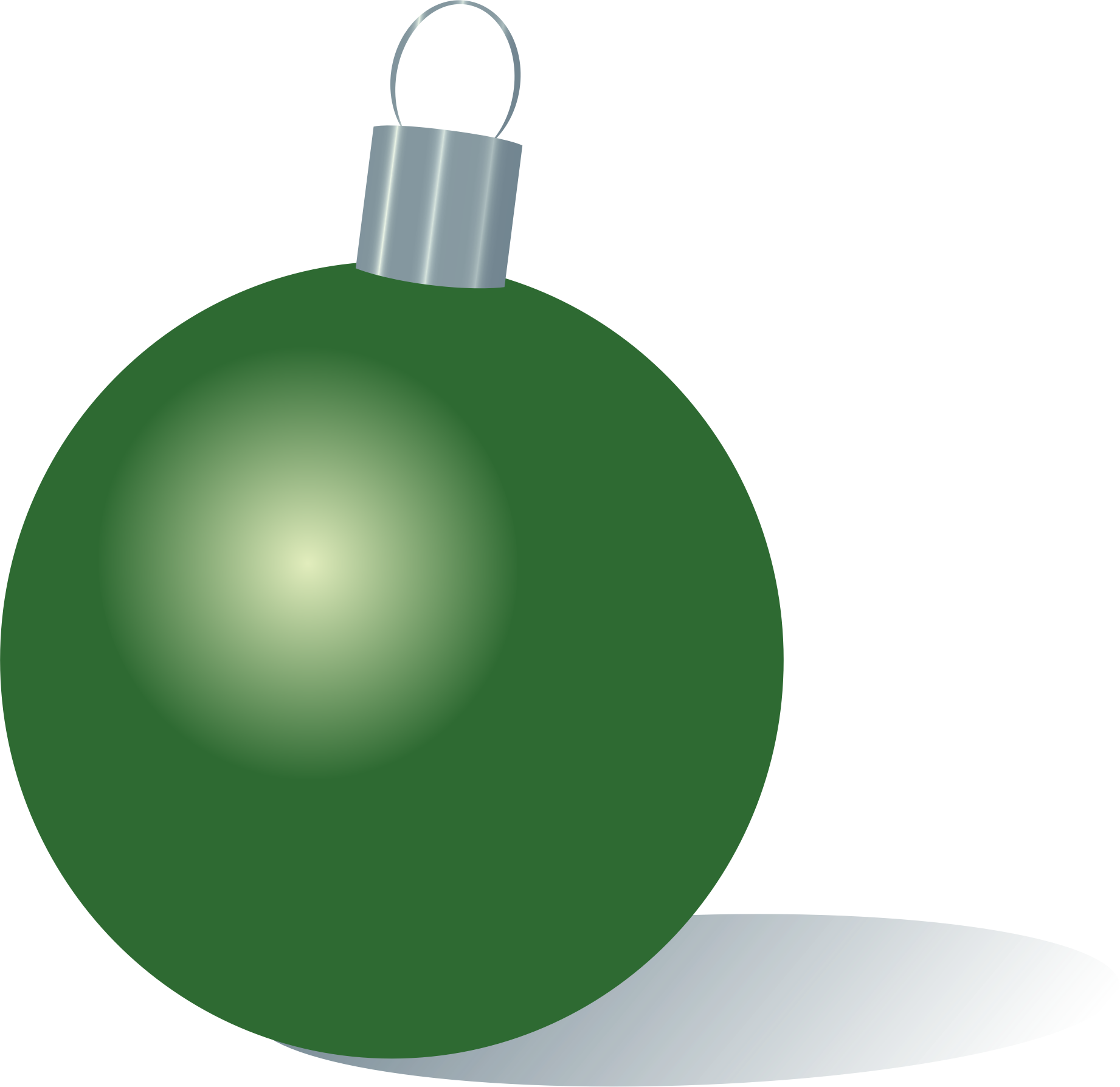 Green Christmas Ornament by Alejunkie