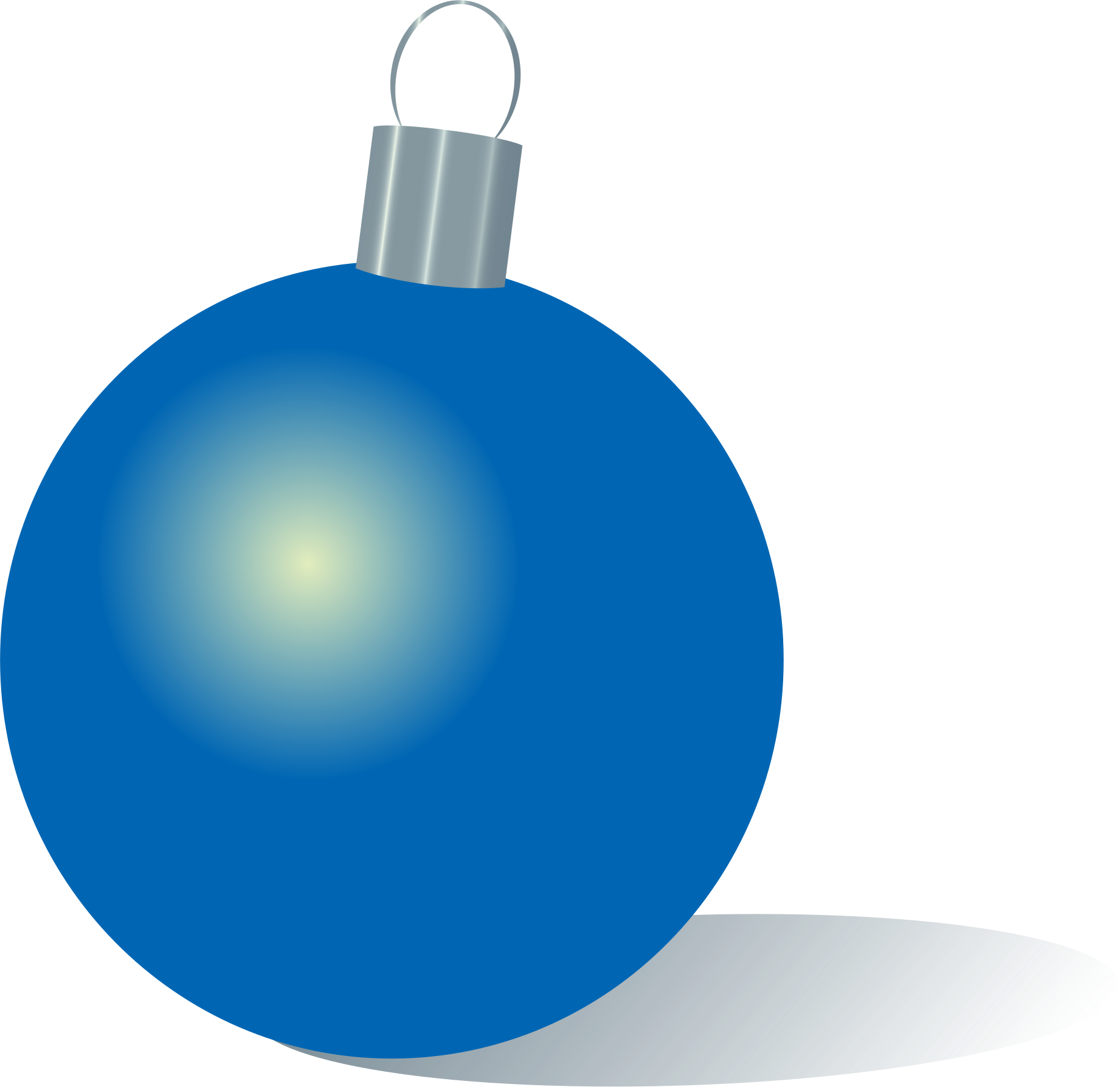 Blue Christmas ornament by Alejunkie