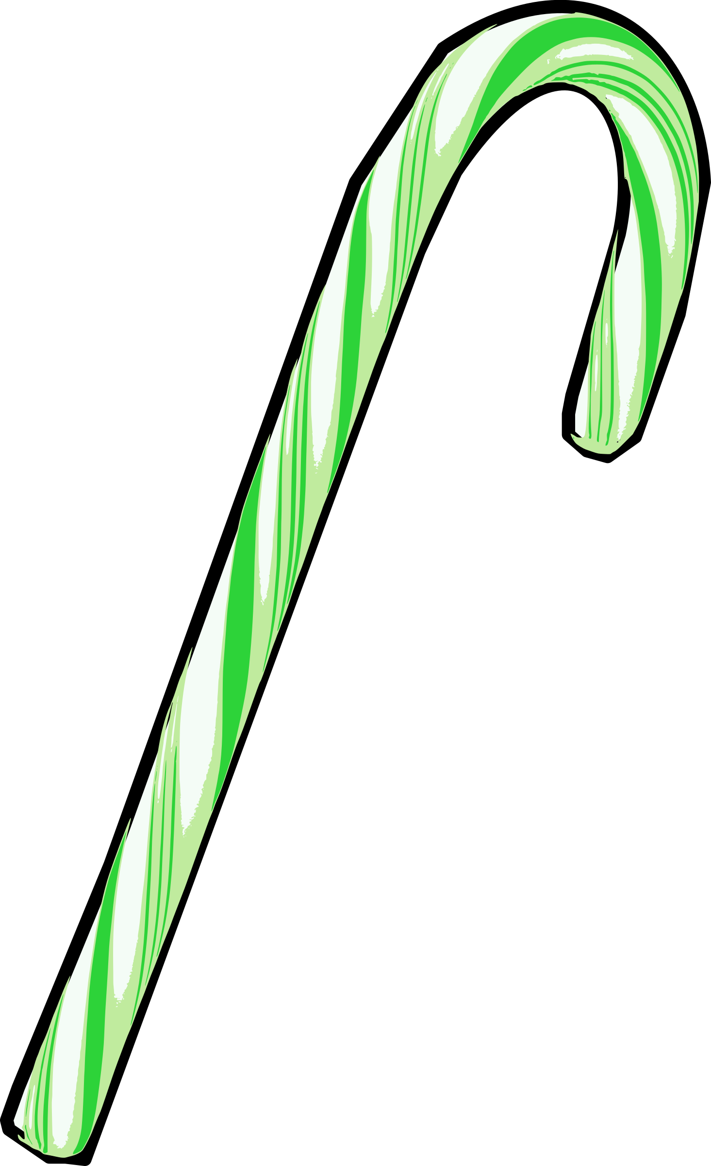 Green Candy Cane by j4p4n