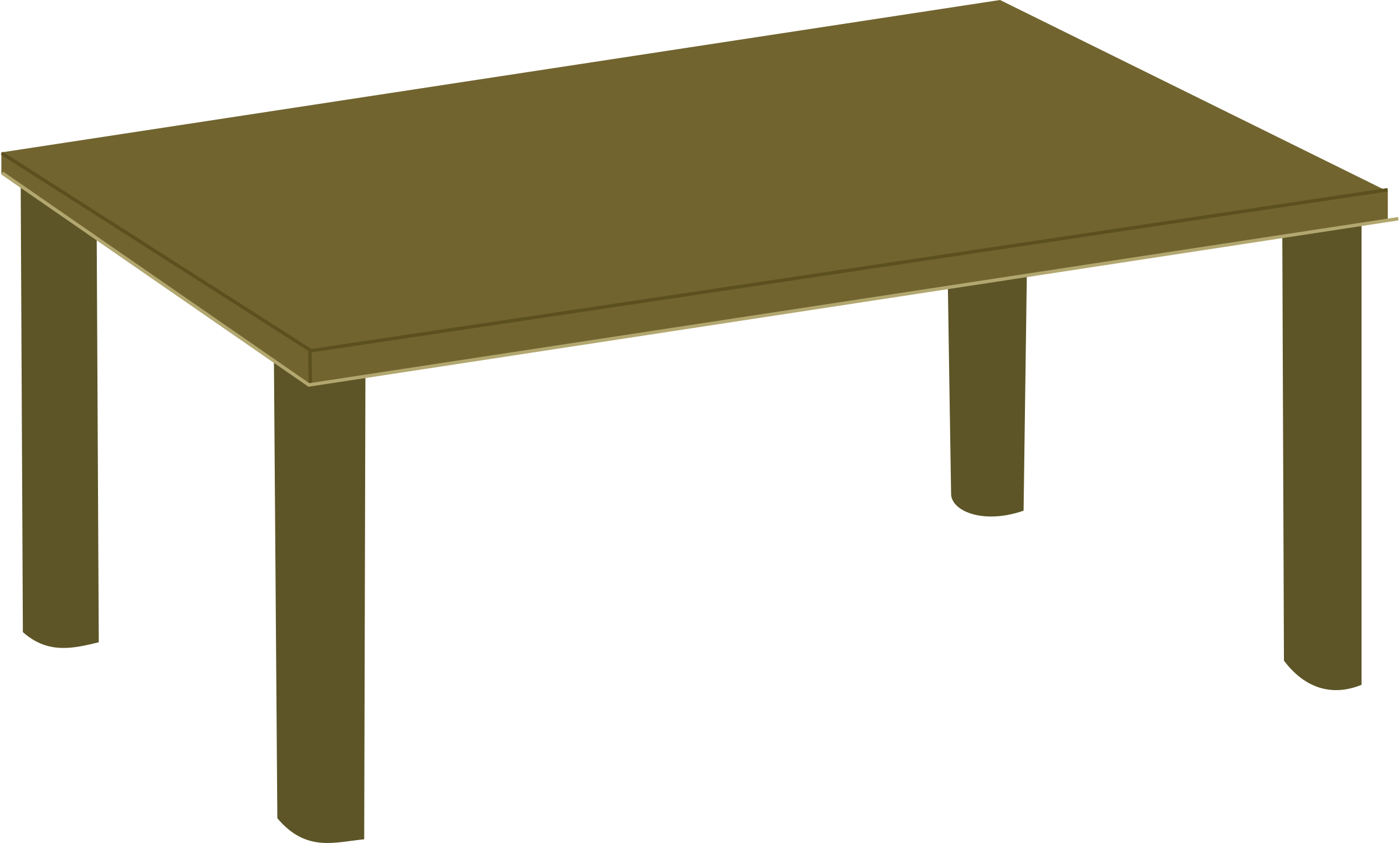 Wooden table by Rfc1394