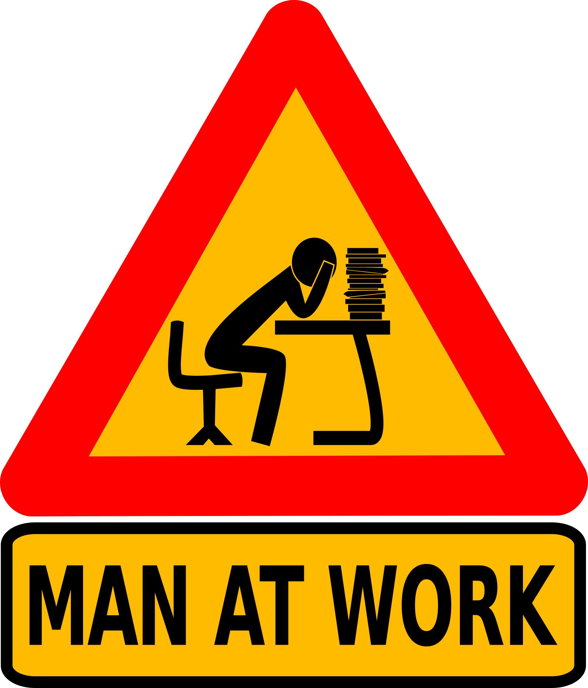Man at intellectual work by dominiquechappard