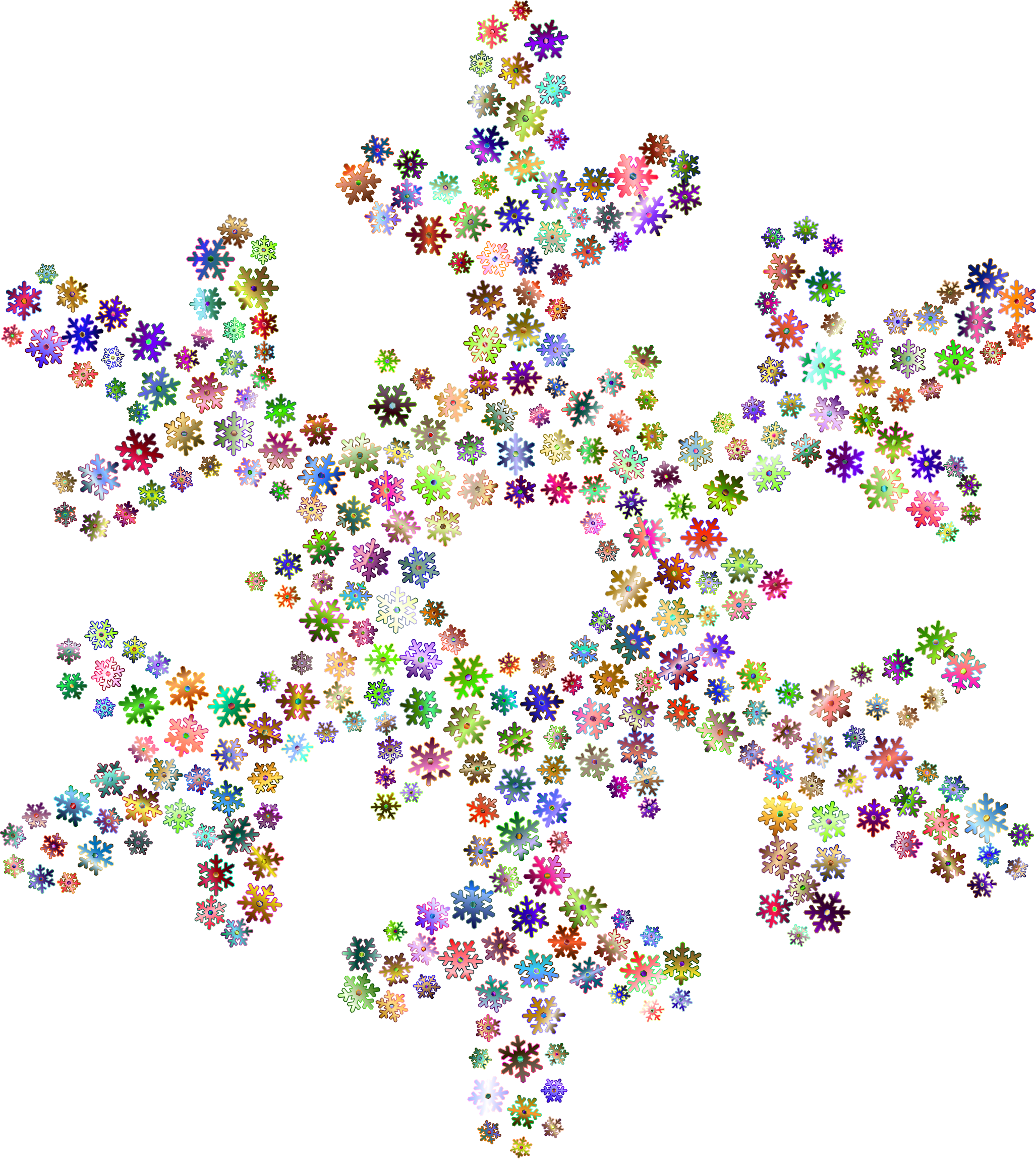 Snowflake Fractal Prismatic No Background by GDJ