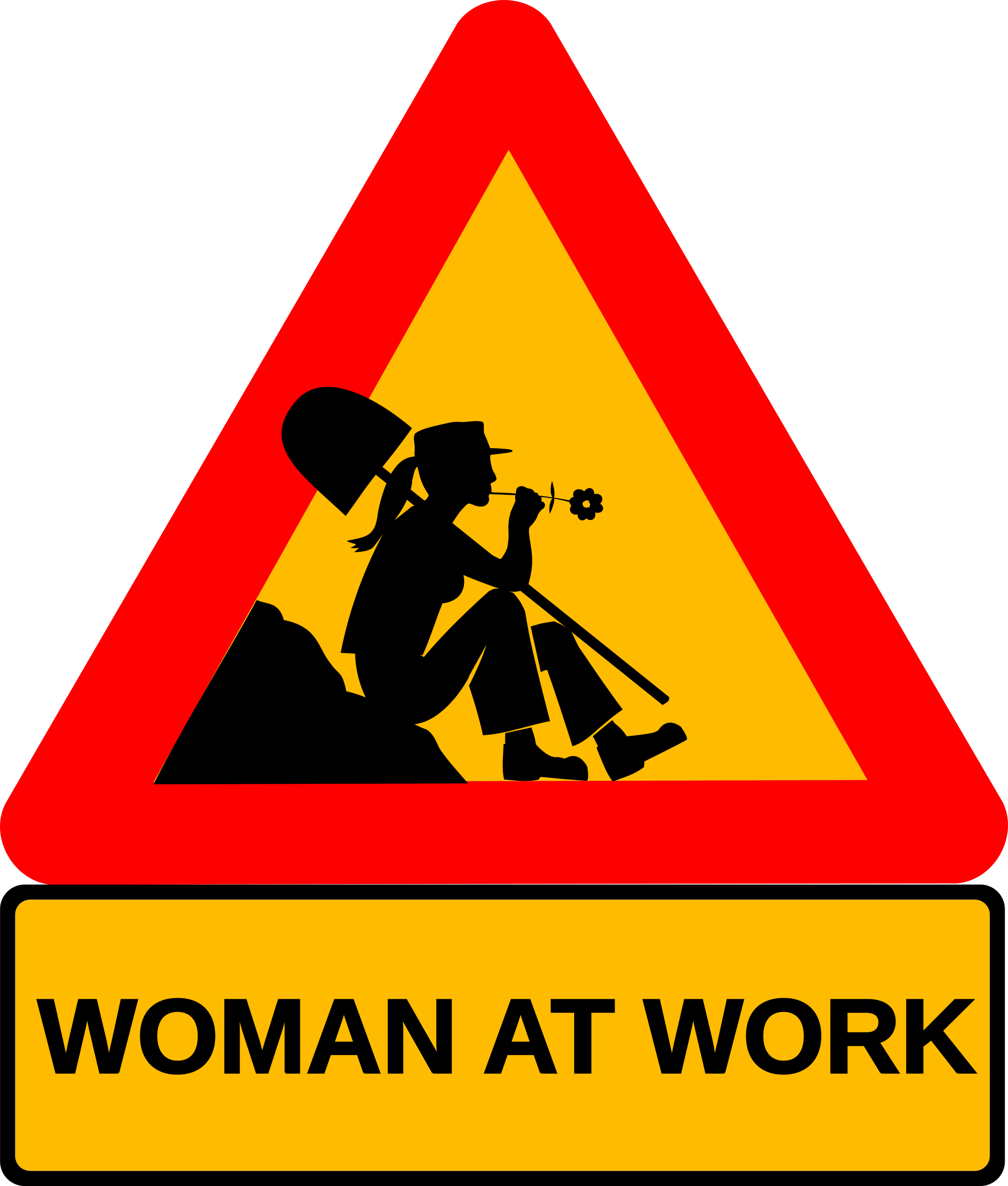 Woman at work by dominiquechappard
