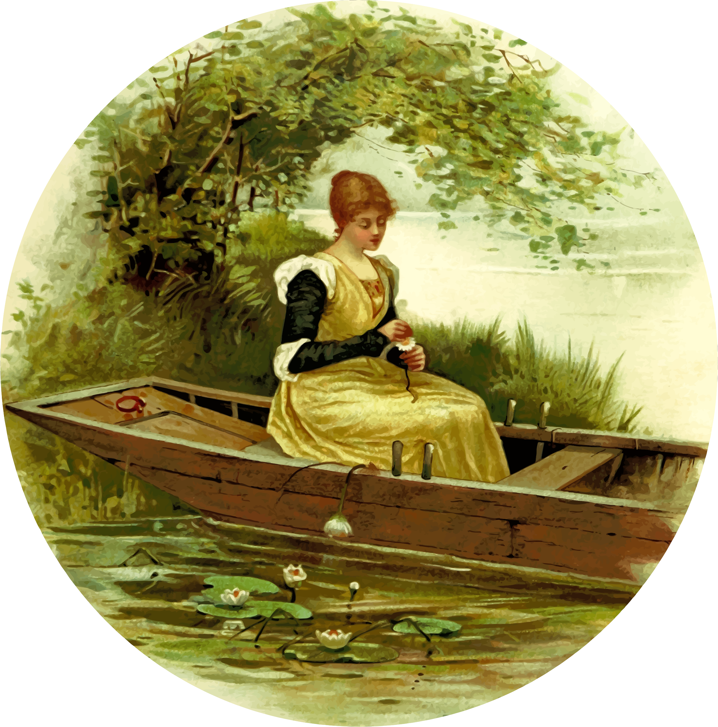 Riverbank scene by Firkin