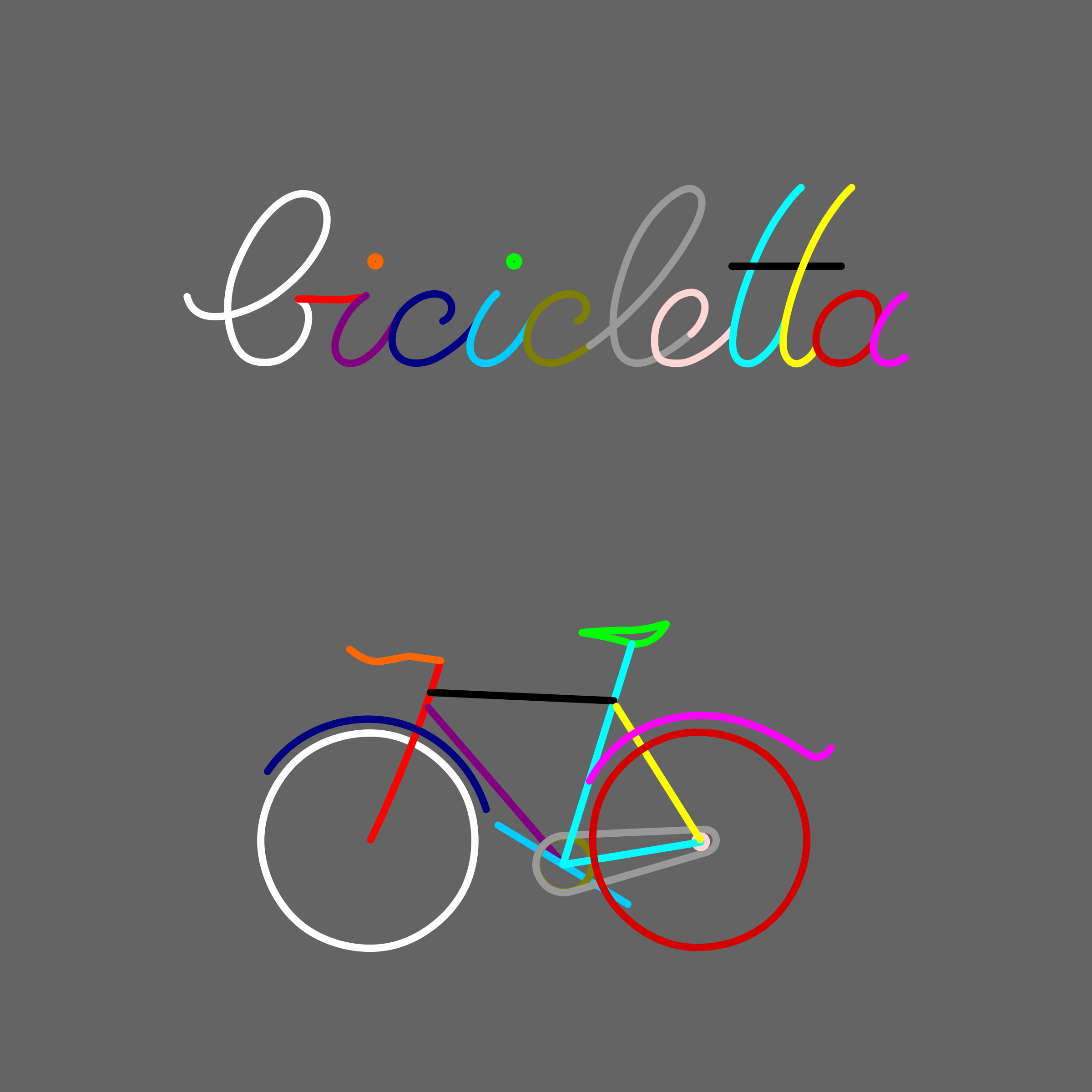 bicycle assembled from script writing by Lazur URH