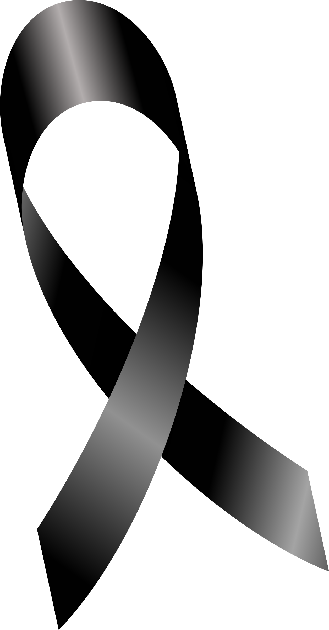 Melanoma cancer ribbon, mourning ribbon, Luto by leangoro