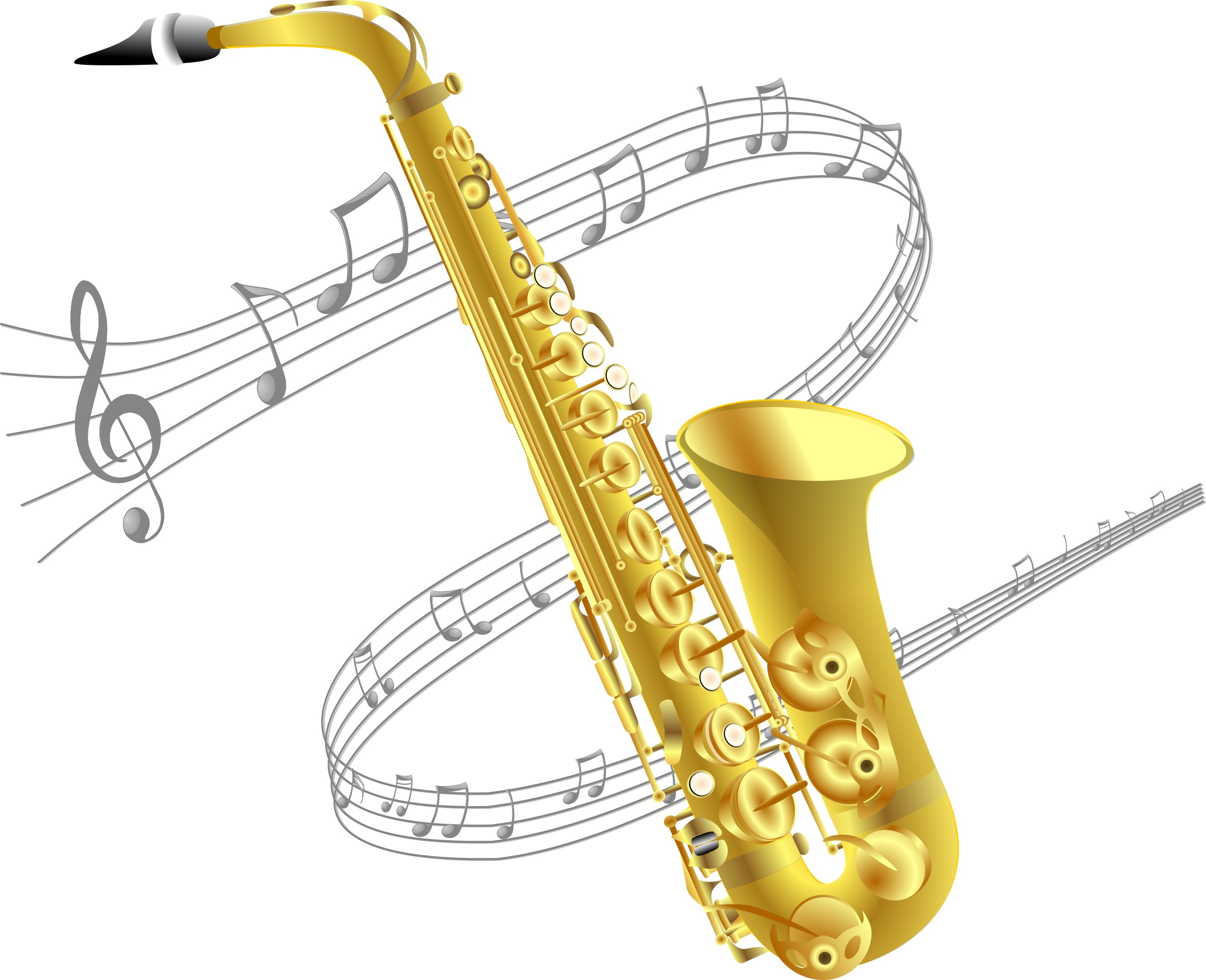 Saxophone with music background by Manuela.
