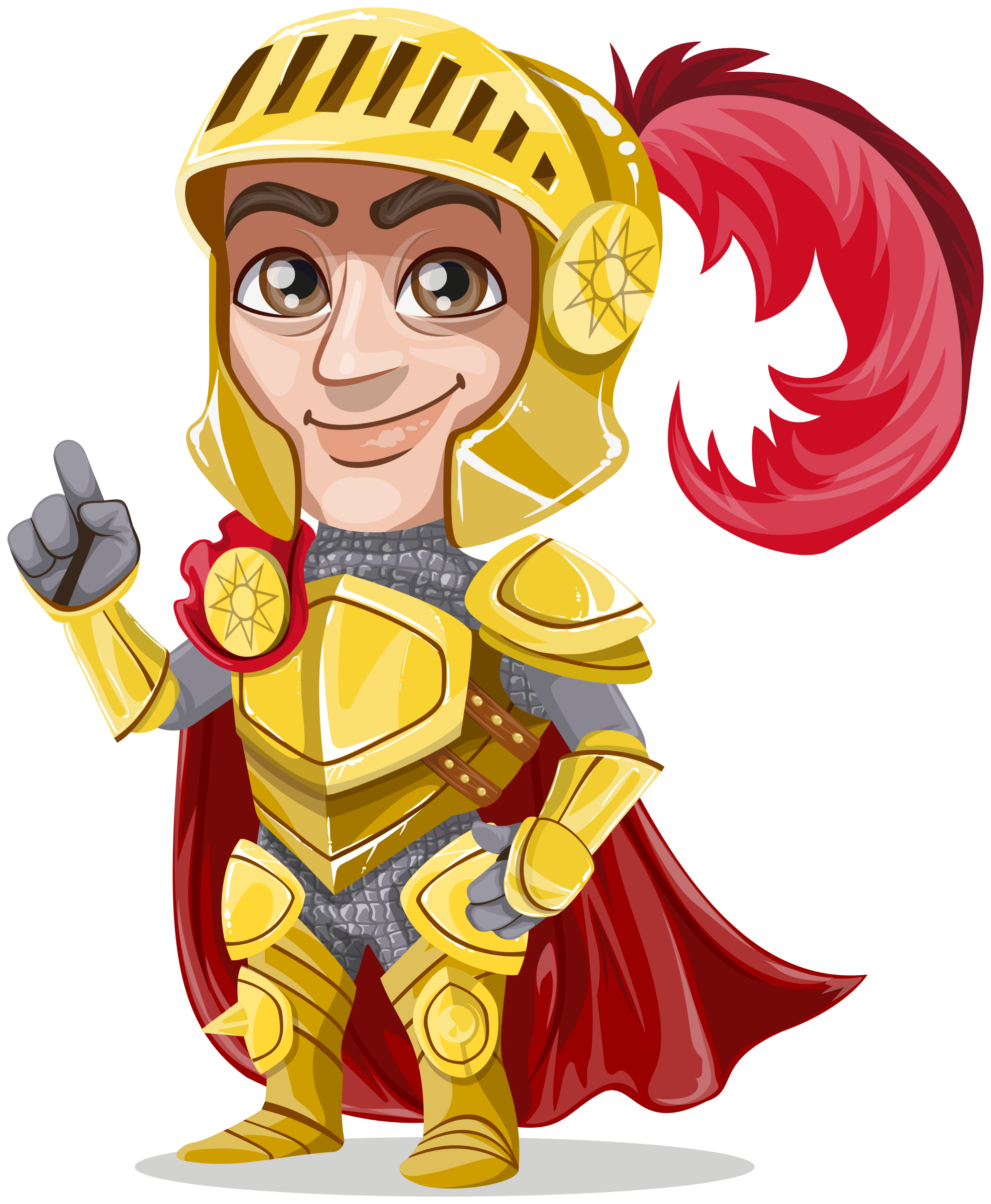 King or prince warrior in golden armor, without weapons by Juhele