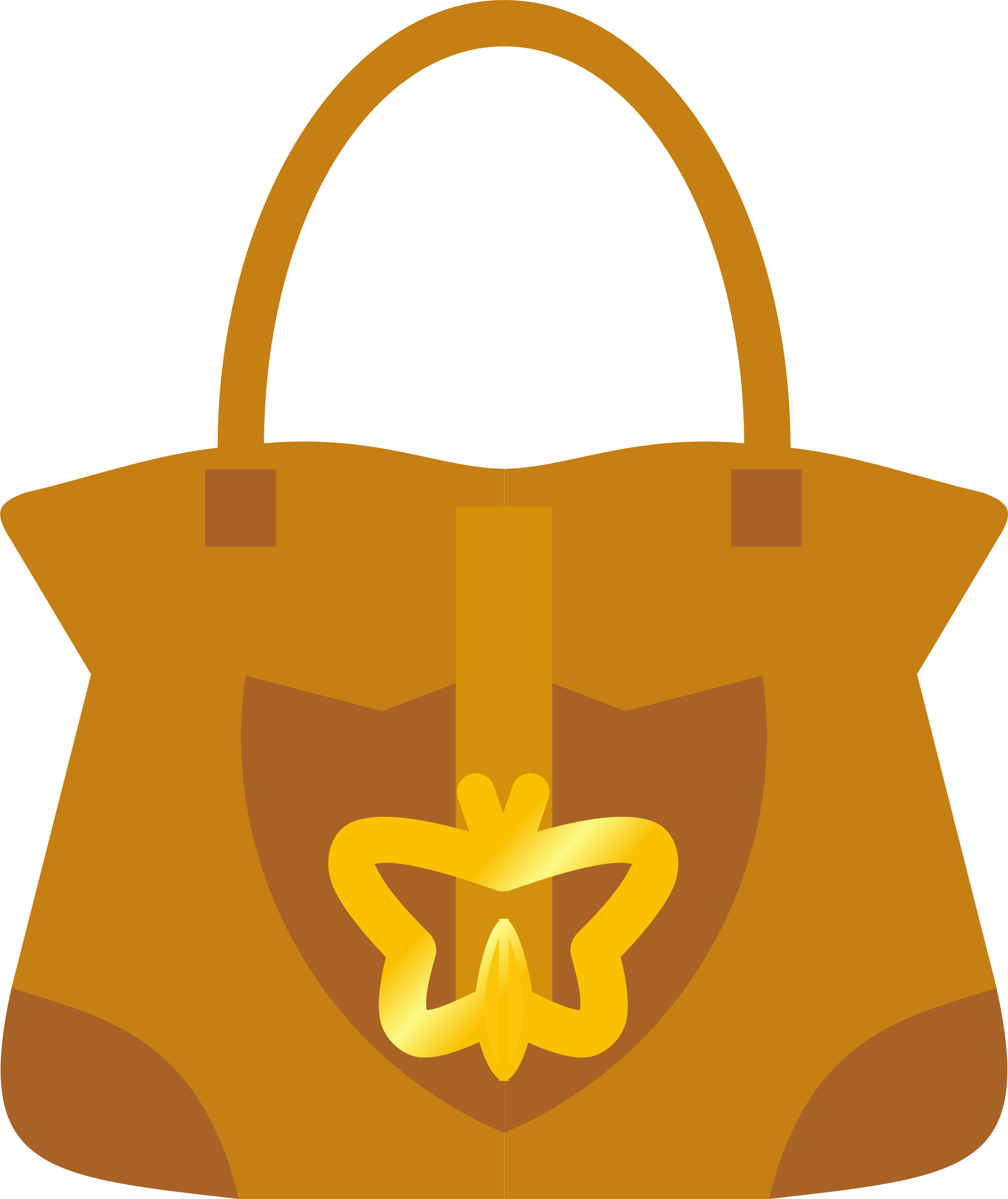 Leather handbag (purse) - Symmetrical by SunKing2