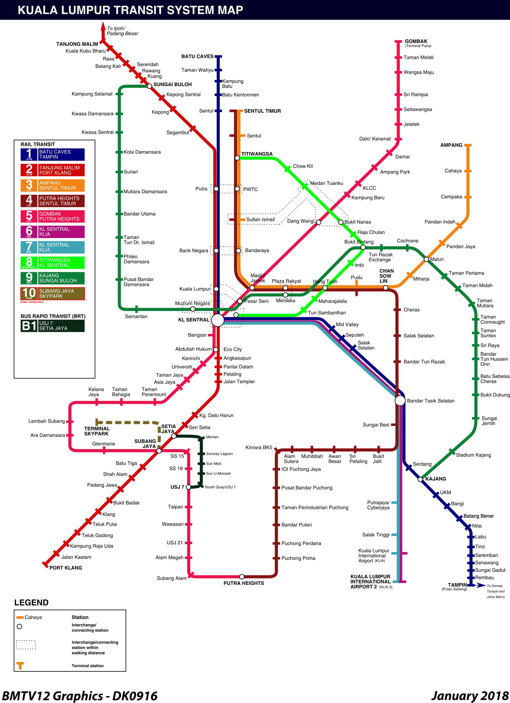 Clipart Kuala LumpurSelangor Rail Transit Map