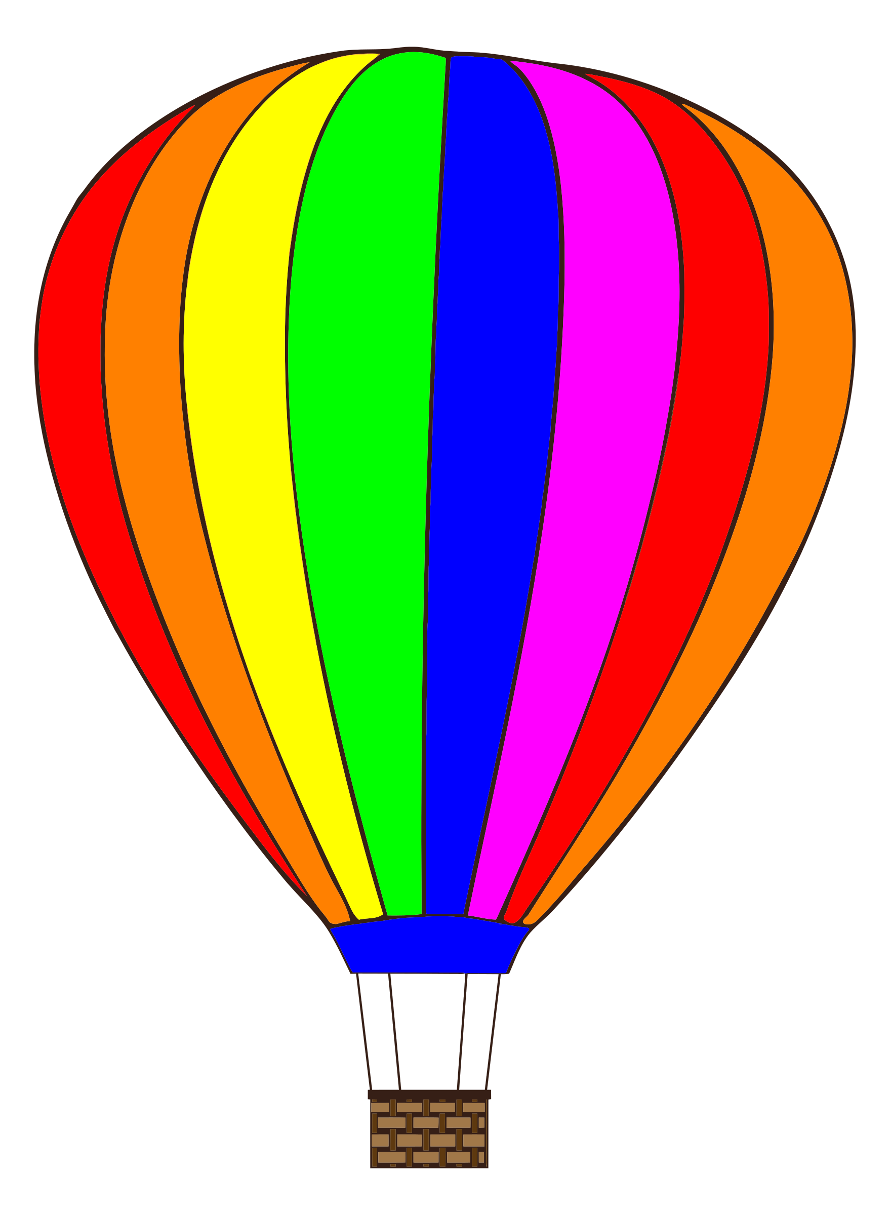 Hot Air Balloon with saturated colors by Manuela.